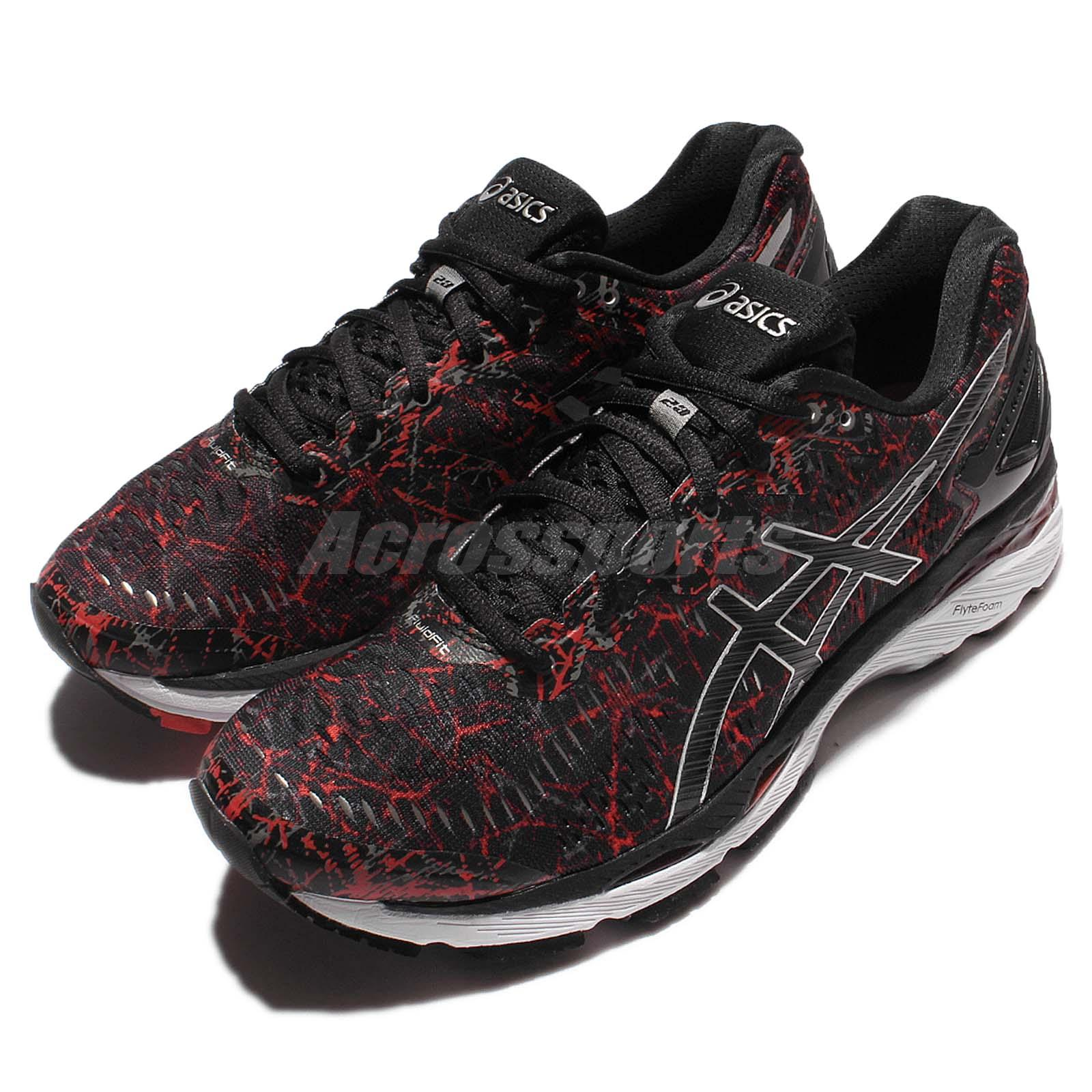 T6A0N-2390 Gel Kayano 23 LE Men Running Shoes Sneakers Black Red Asics