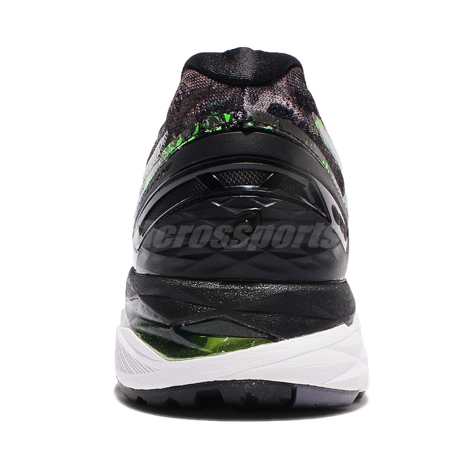 e5c6d9ba4d2c Asics Gel-Kayano 23 Black Green Silver Men Running Shoes Sneakers ...