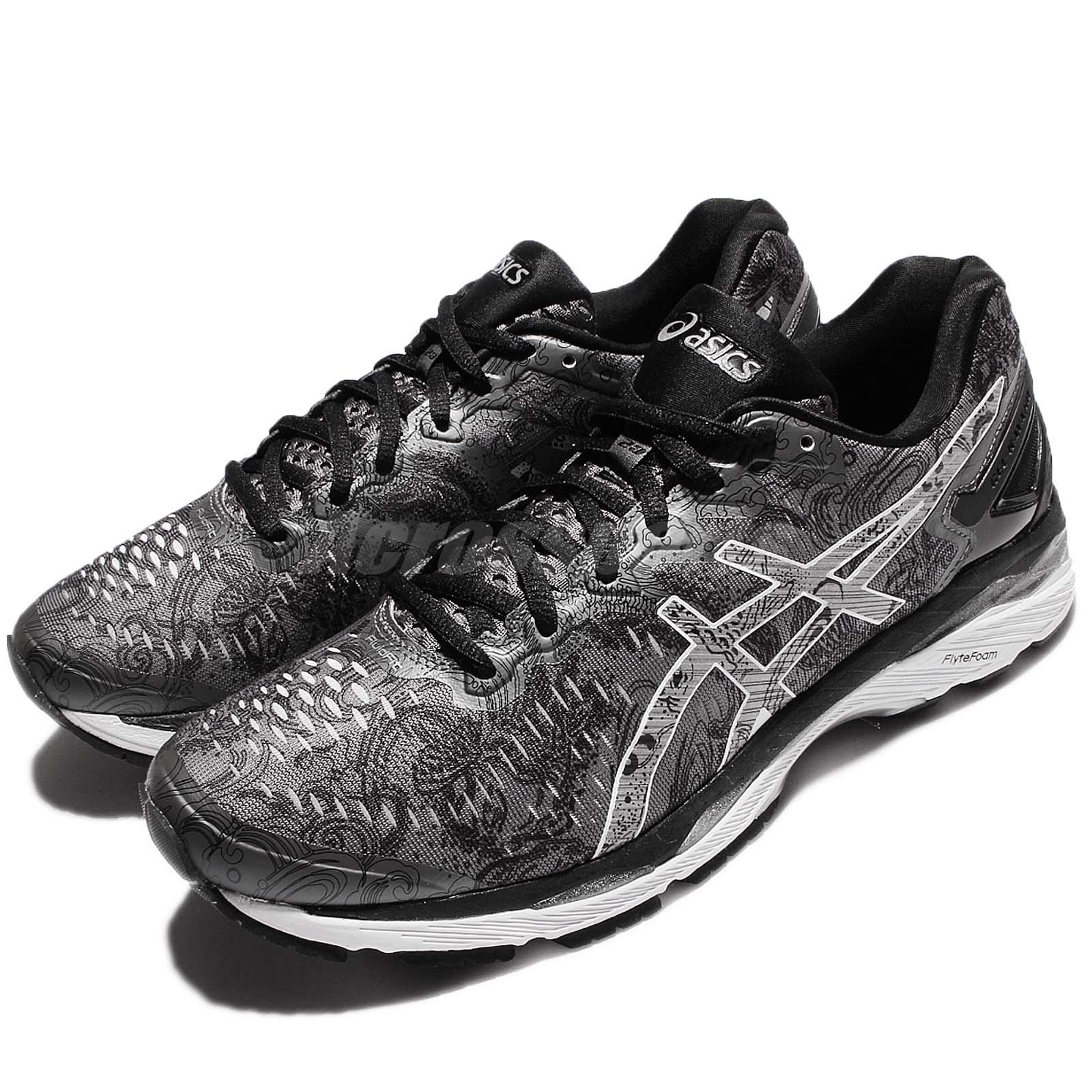 c15f94032f38 Details about Asics Gel-Kayano 23 Lite-Show Black Silver Men Running Shoes  Sneakers T6A1N-9793