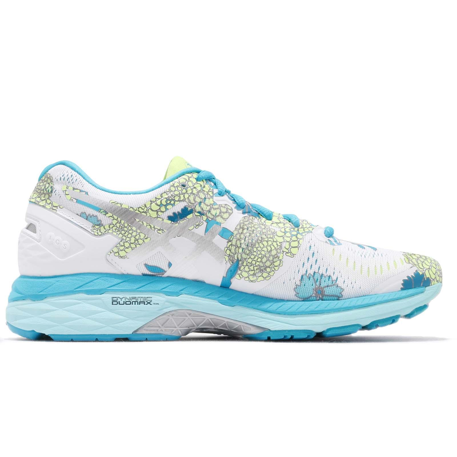 5145a09b60 Asics Gel-Kayano 23 White Silver Blue Floral Women Running Shoes ...