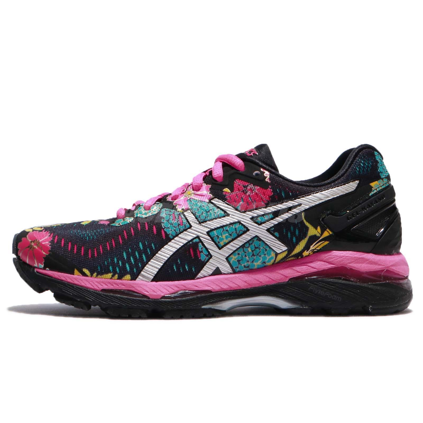 82206cb5031 ... germany asics gel kayano 23 black silver pink glow women running shoe  sneaker t6a5n 9093 6f794