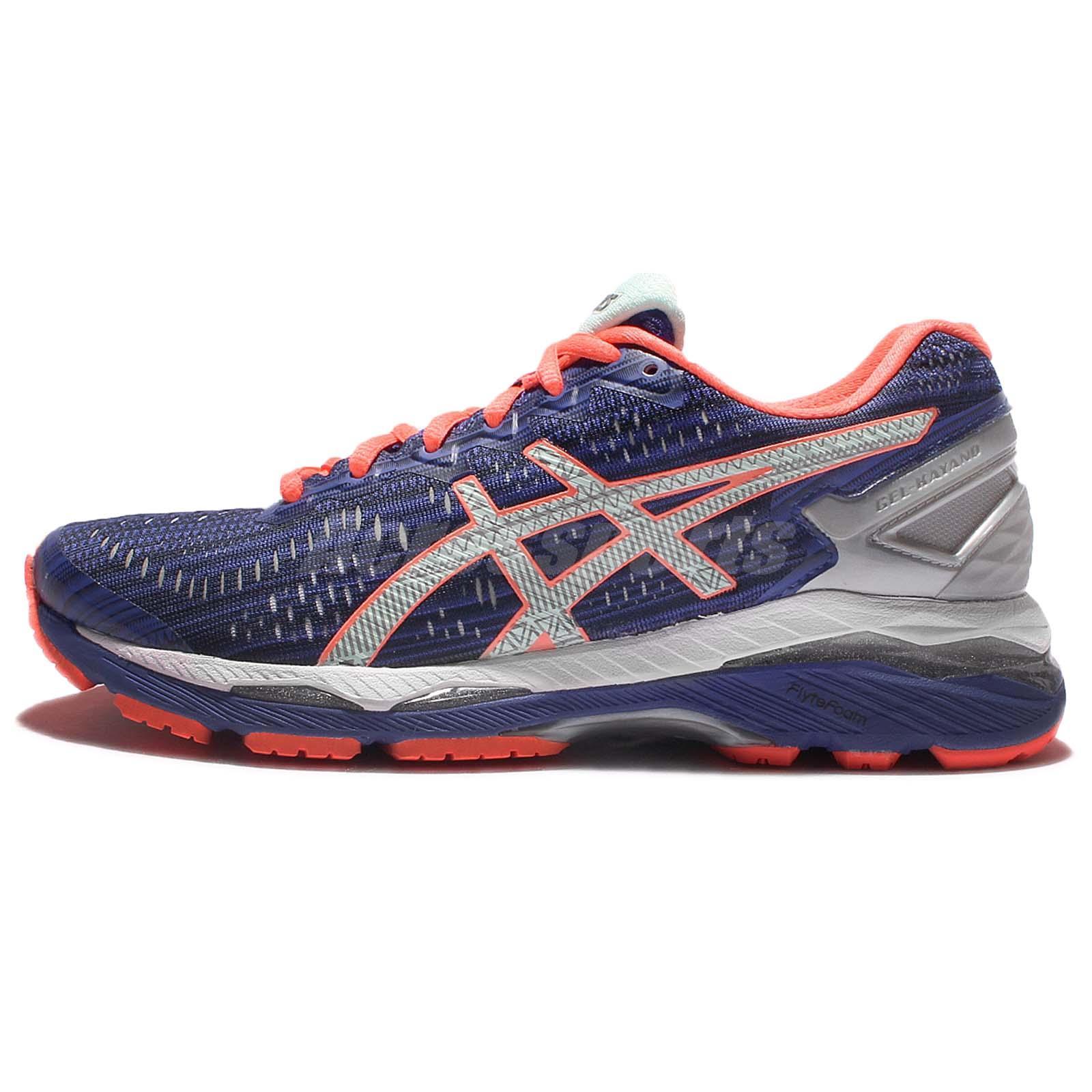 12bb67999286e Asics Gel-Kayano 23 Lite-Show Blue Orange Women Running Shoe Sneakers  T6A6N-4593