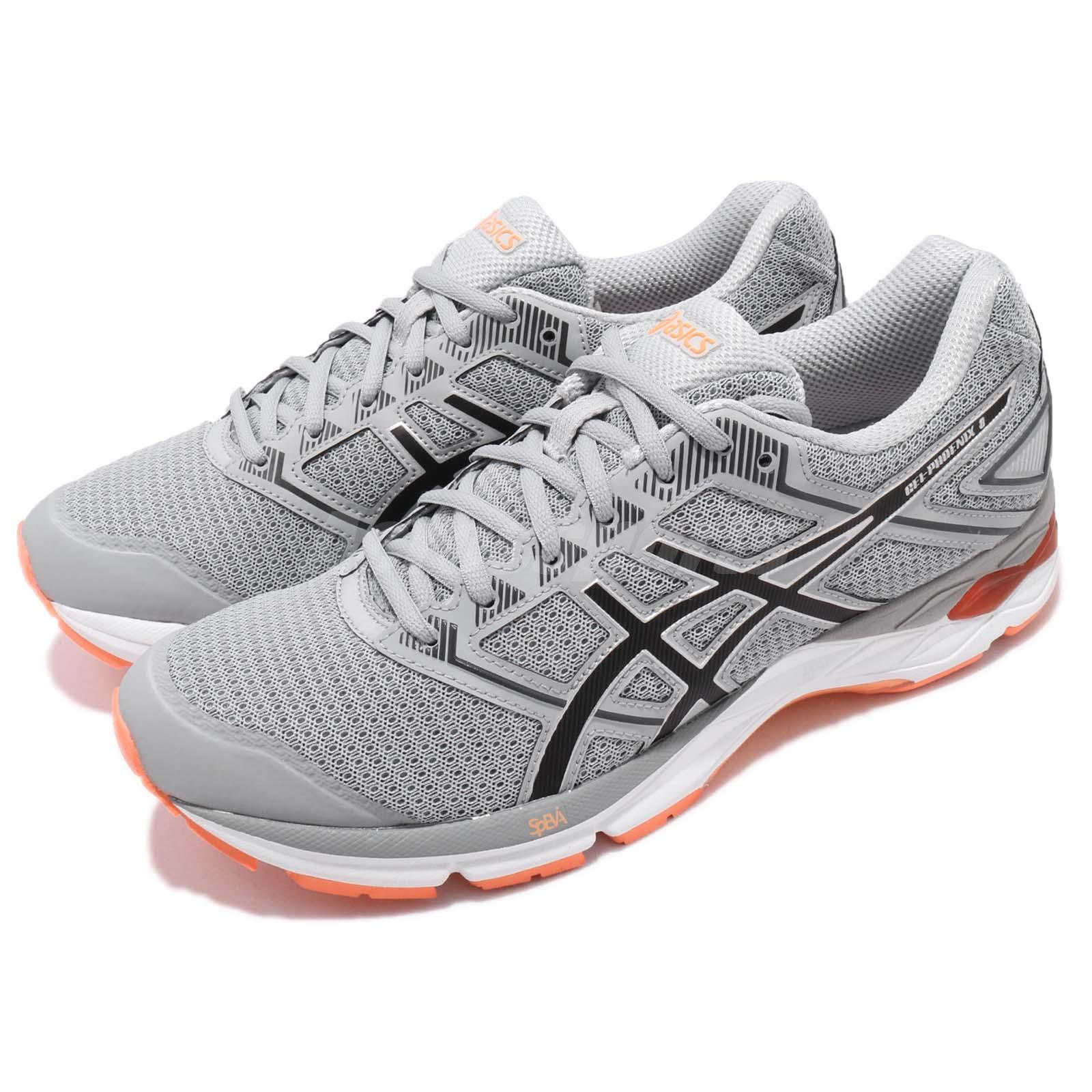 Details about Asics Gel-Phoenix 8 Grey Black Orange Mens Running Shoes  Trainer T6F2N-9690