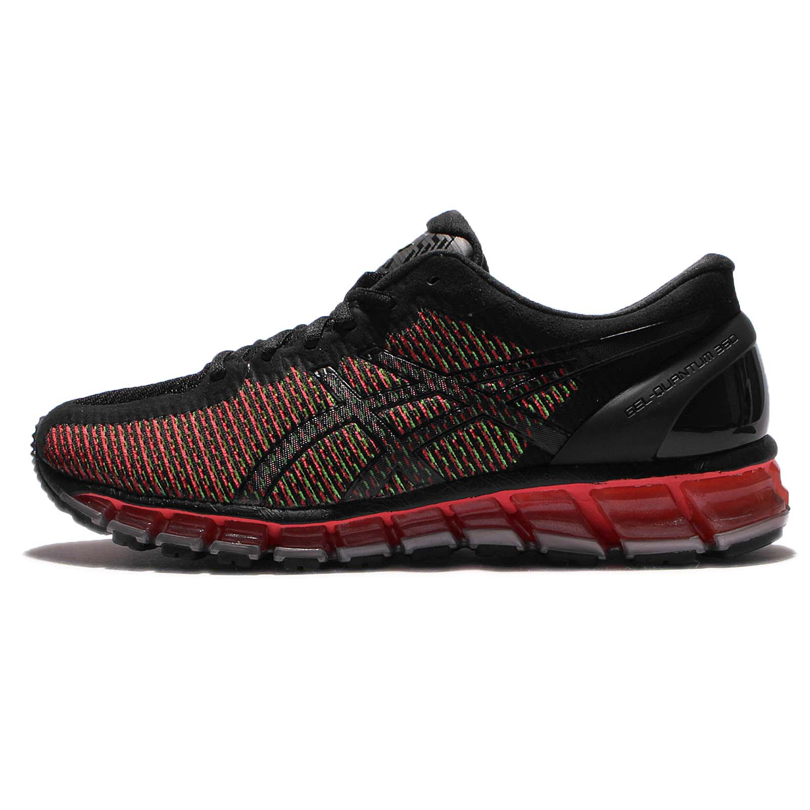 Asics Gel Quantum 360 CM Chameleon Black Red Men Cushion Running Shoe T6G1N 9001