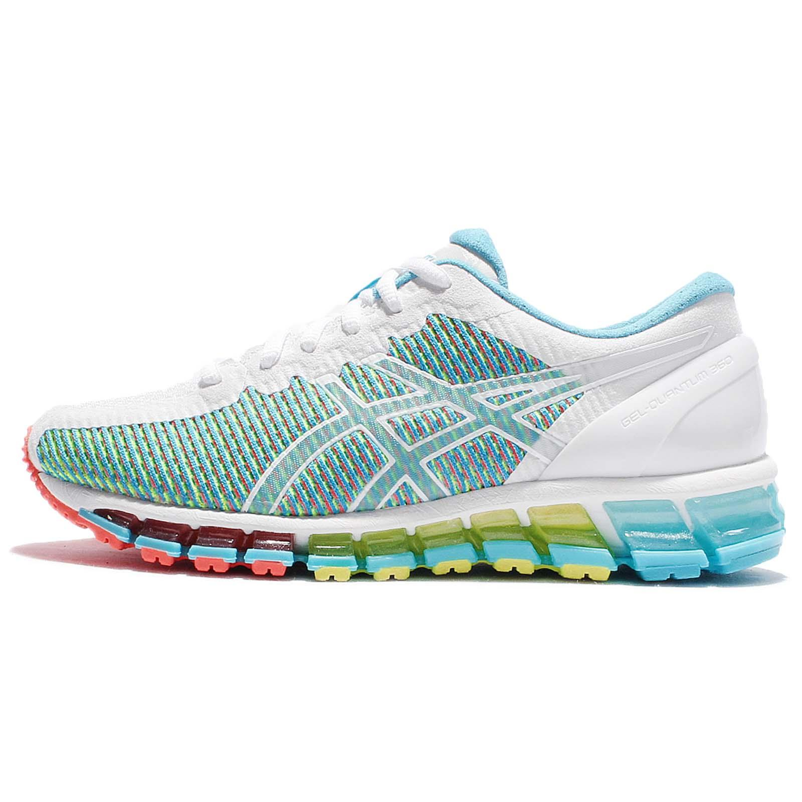chaussures de sport 34e35 e7b20 Details about Asics Gel-Quantum 360 CM White Green Red Women Running Shoe  Sneakers T6G6N-0100