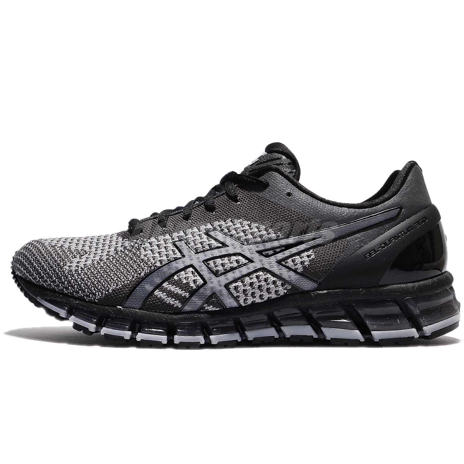 Asics Gel-Quantum 360 Knit Mid Grey Black Men Running Shoes Sneakers  T728N-9697