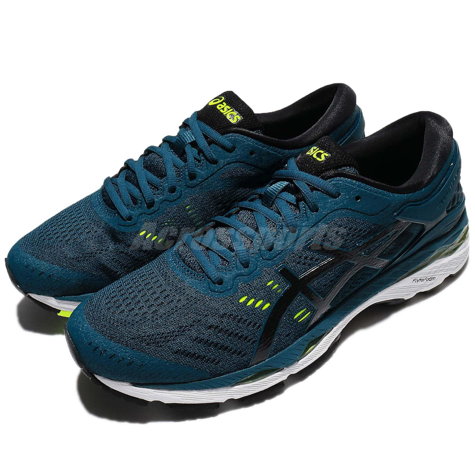 a72ba9dee14 Details about Asics Gel-Kayano 24 Ink Blue Black Yellow Men Running Shoes  Sneakers T749N-4590