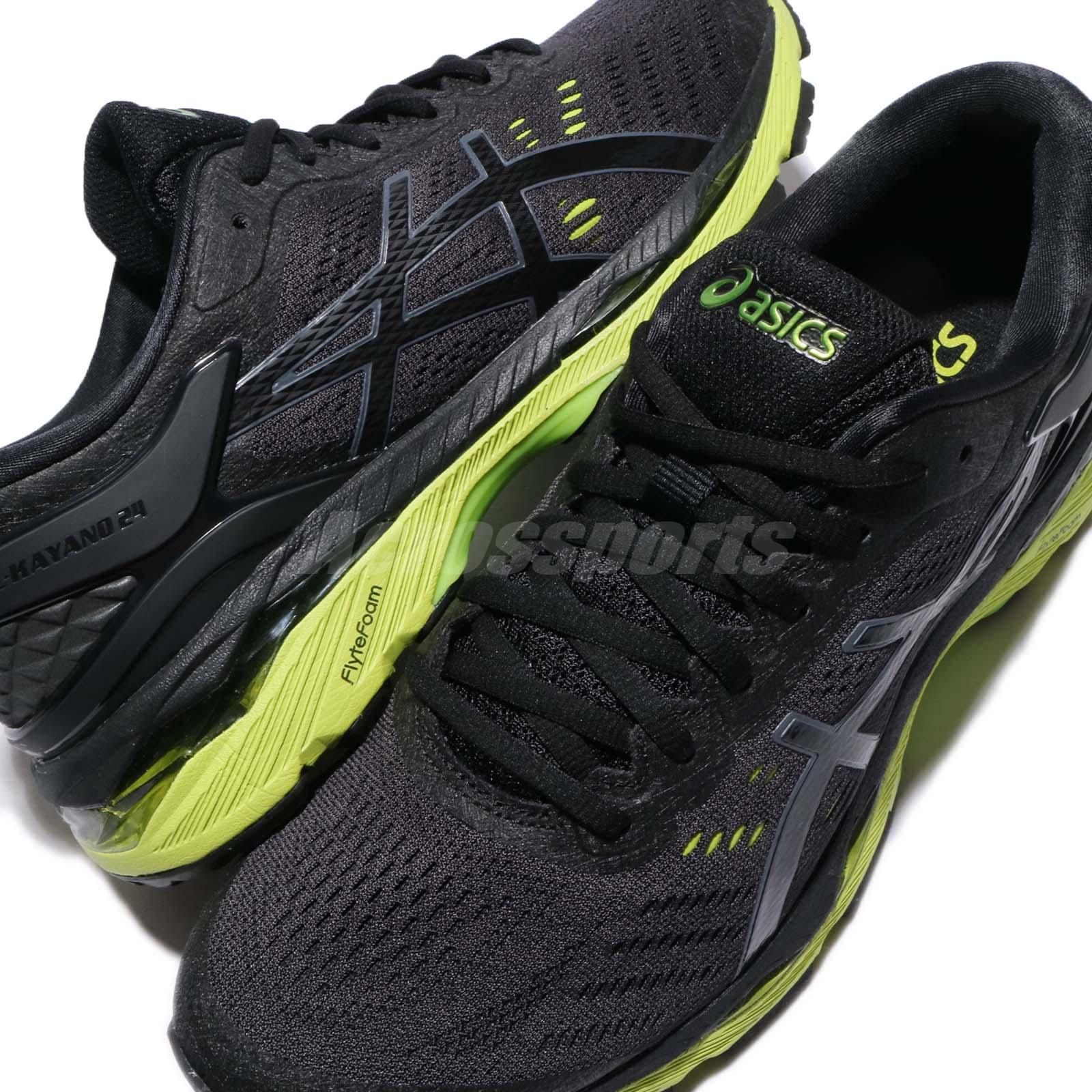a6262877d8ec Asics Gel-Kayano 24 Black Green Phantom Men Running Shoes Sneakers ...