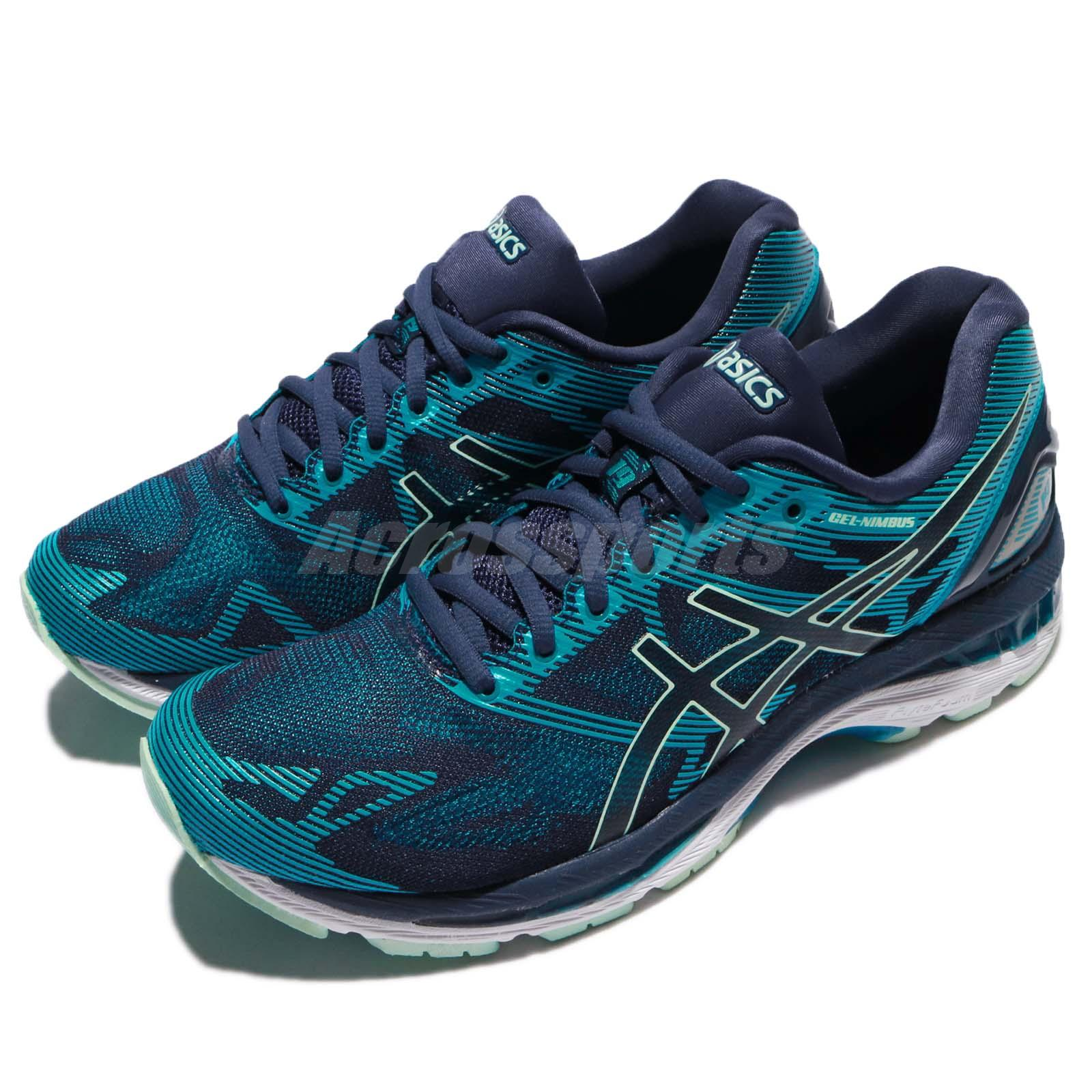 best website 056b5 9729b Details about Asics Gel-Nimbus 19 Insignia Blue Glacier Sea Women Running  Shoes T750N-5067