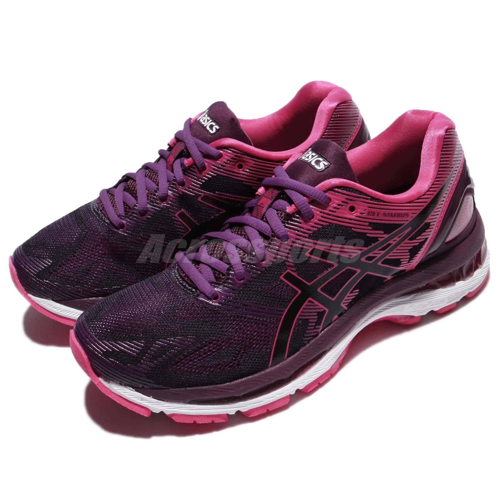 new arrival f89b9 dfb21 Details about Asics Gel-Nimbus 19 Black Cosmo Pink Women Running Shoes  Sneakers T750N-9020