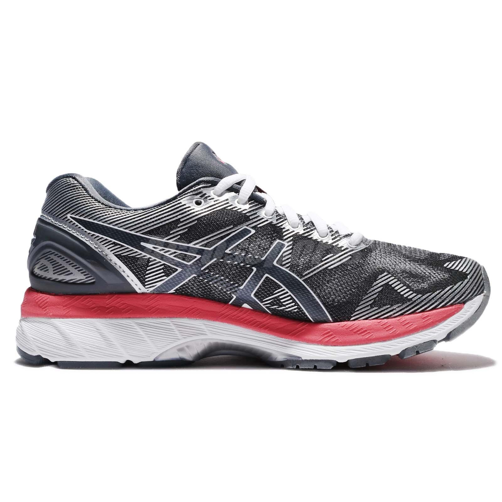 designer fashion facec 7c43a Details about Asics Gel-Nimbus 19 D Wide Grey Pink Women Running Shoes  Sneakers T751N-9719