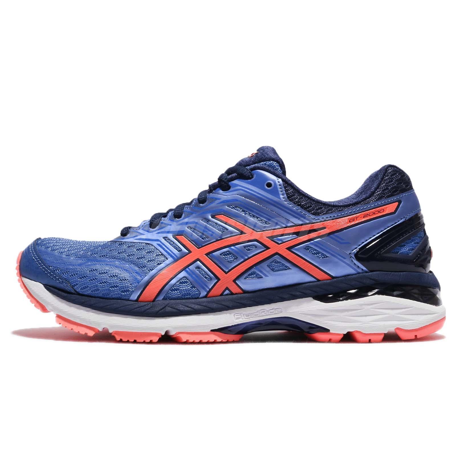 22b3577593 Asics GT-2000 5 Regatta Blue Flash Coral Women Running Shoes Sneakers T757N -4006