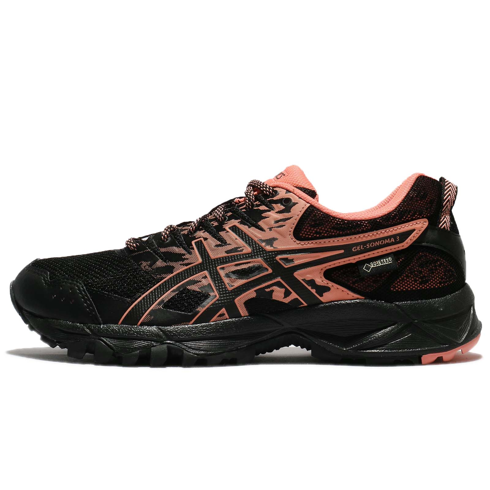 timeless design new concept united states Asics Gel-Sonoma 3 G-TX III Gore-Tex Black Begonia Pink Women ...