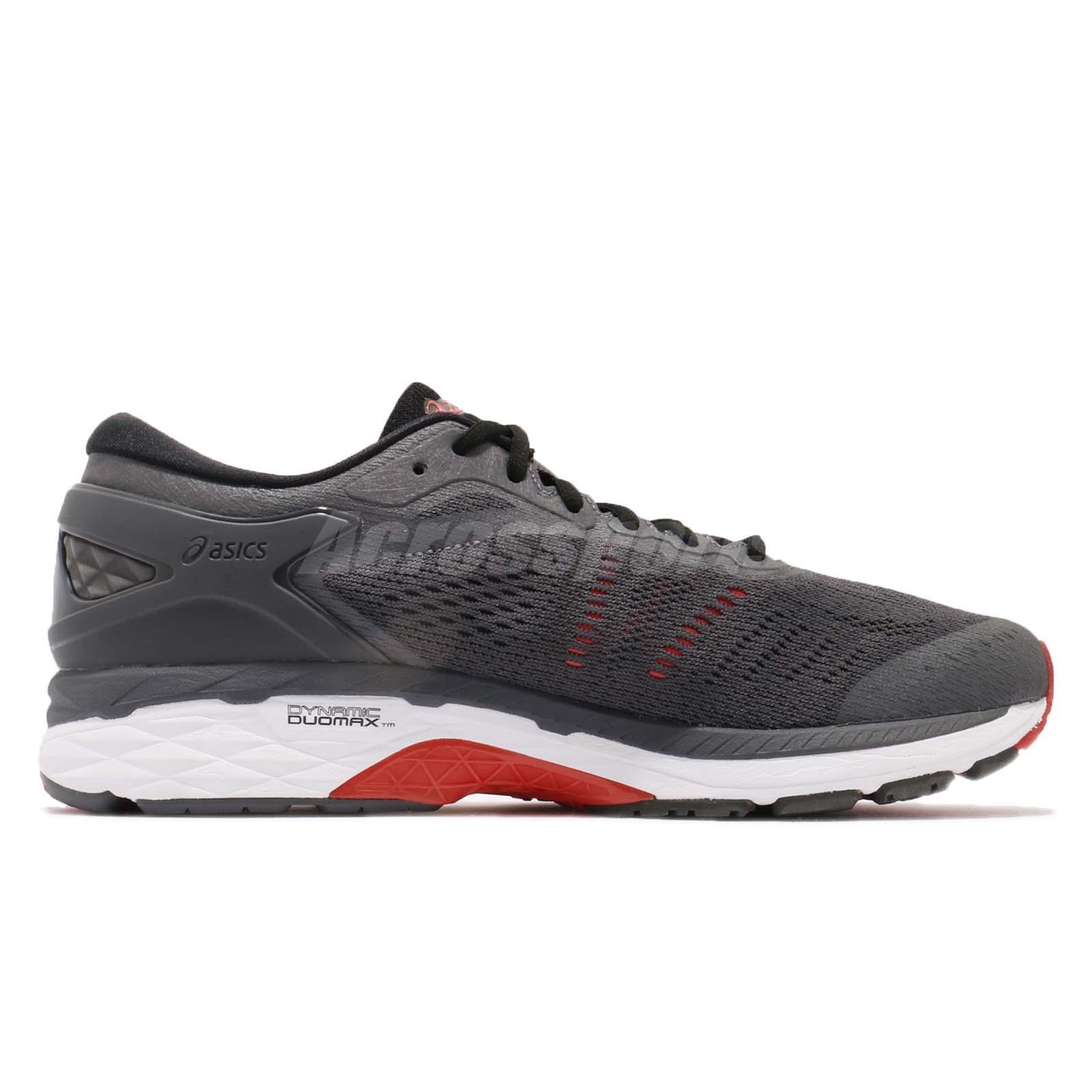 Détails sur Asics Gel Kayano 24 4E Extra Large gris noir rouge homme chaussures de course T7A1N 9590 afficher le titre d'origine