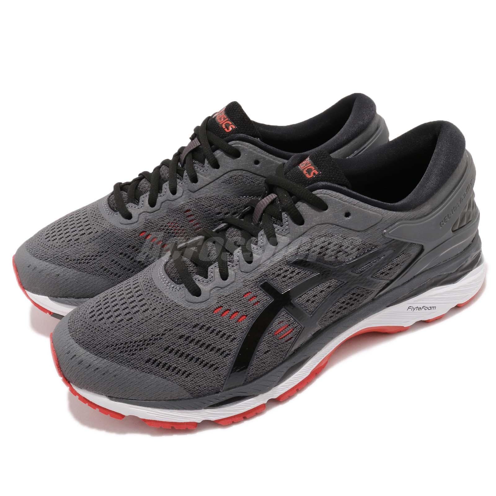 bester Preis populäres Design USA billig verkaufen Details about Asics Gel-Kayano 24 4E Extra Wide Grey Black Red Mens Running  Shoes T7A1N-9590
