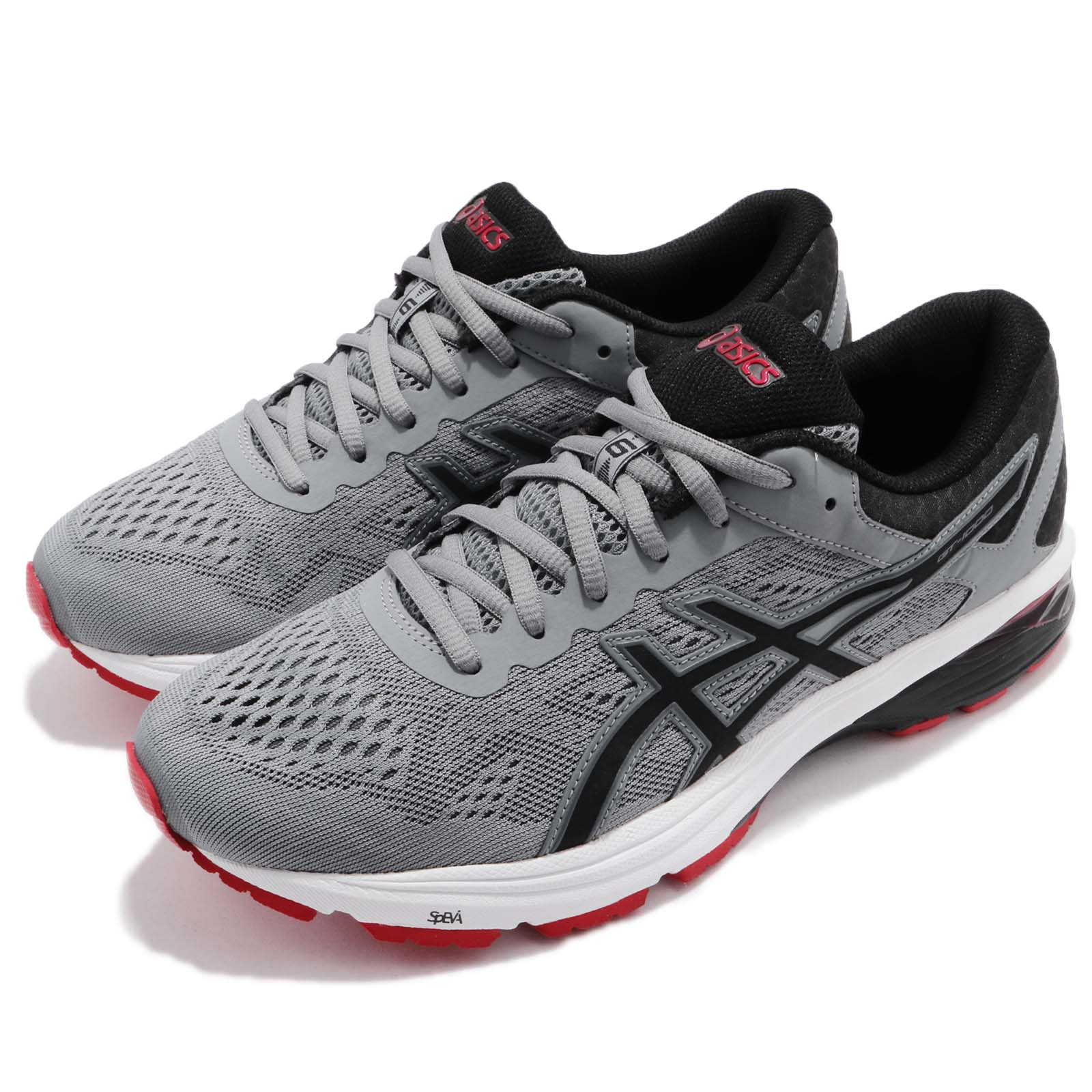 Details about Asics GT 1000 6 Grey Black Red Men Gear Road Running Shoes Sneakers T7A4N 1190