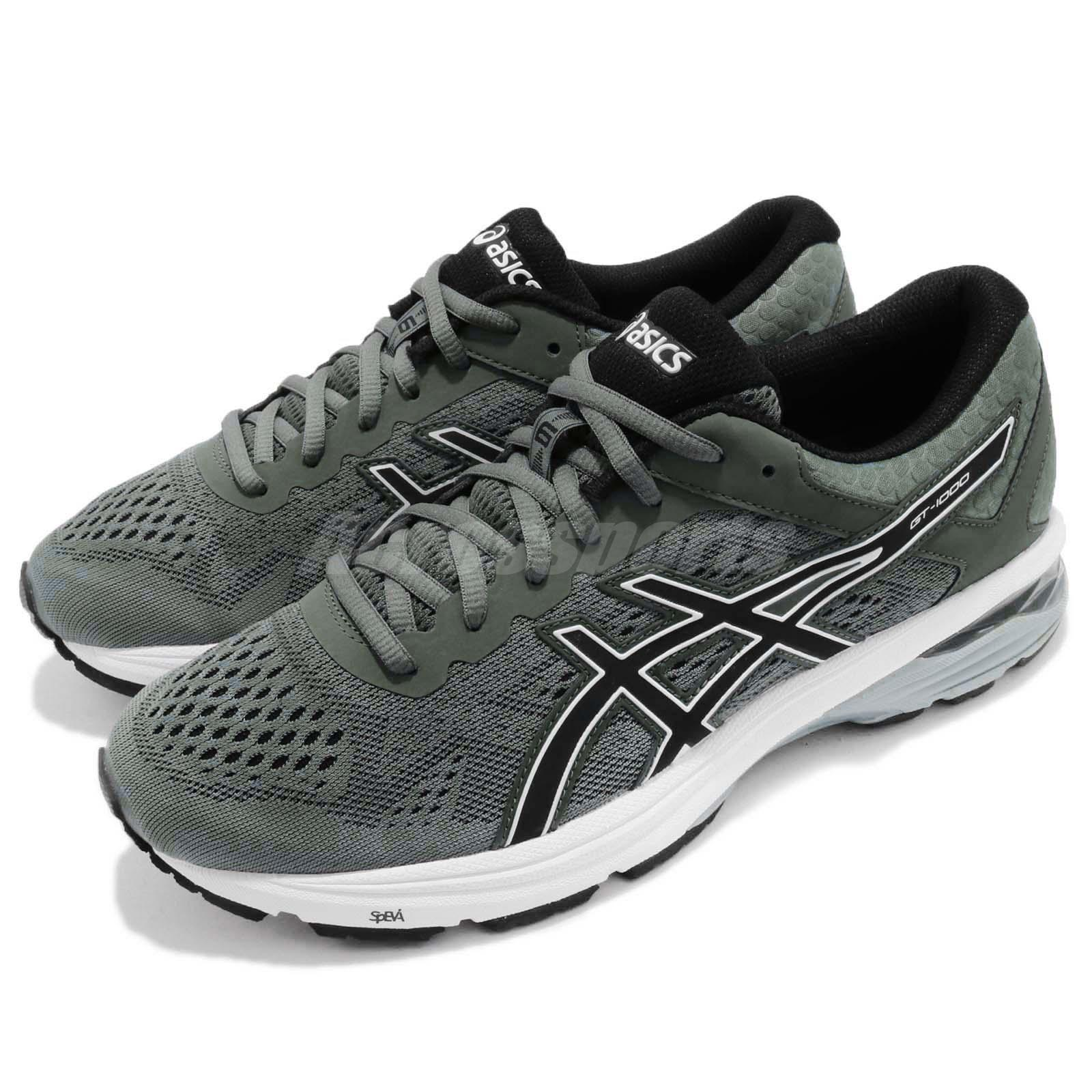 Details about Asics GT 1000 6 VI Dark Forest Black Men Running Shoes Trainers T7A4N 8290
