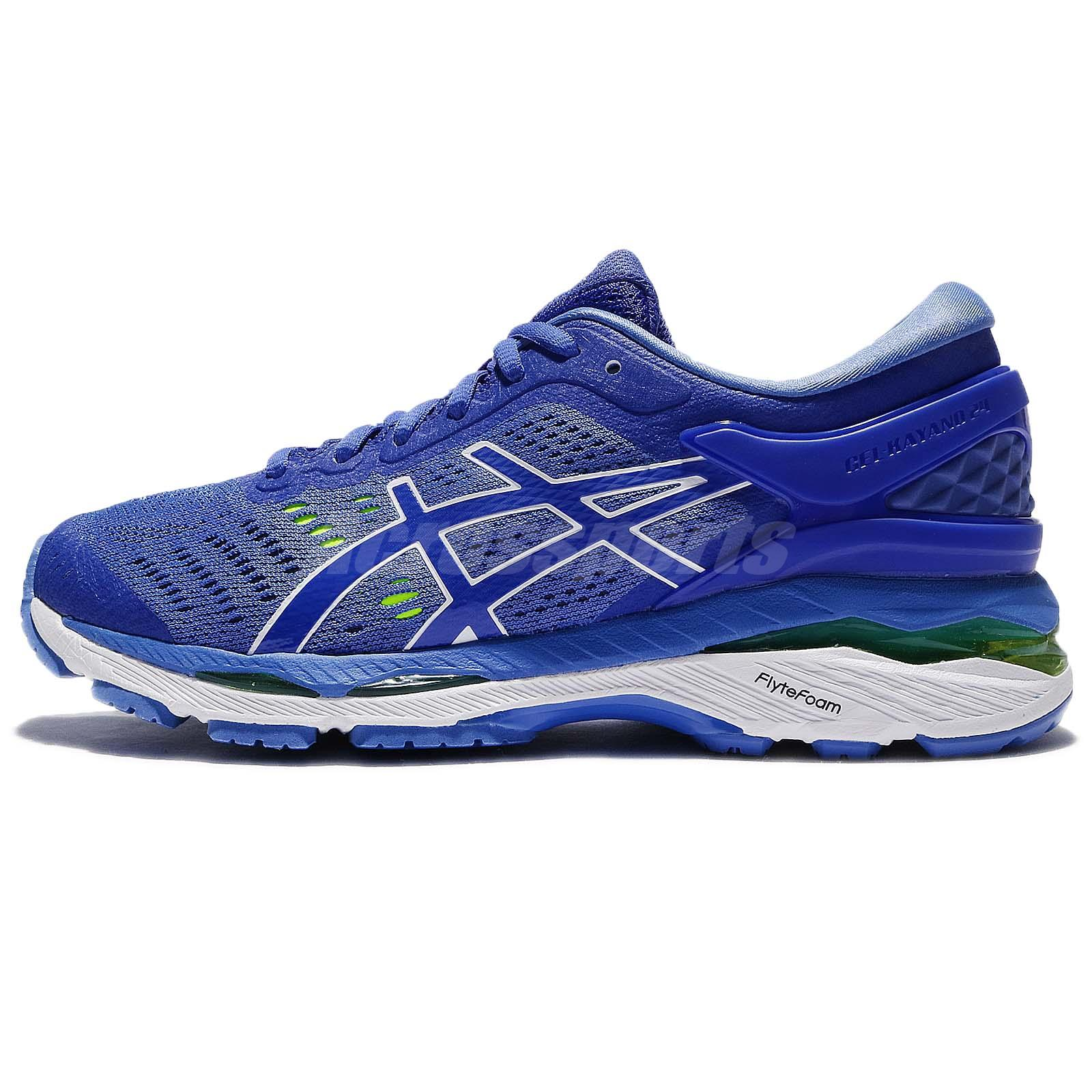32f05e0442574 Asics Gel-Kayano 24 D Wide Blue White Women Running Shoes Sneakers  T7A5N-4840