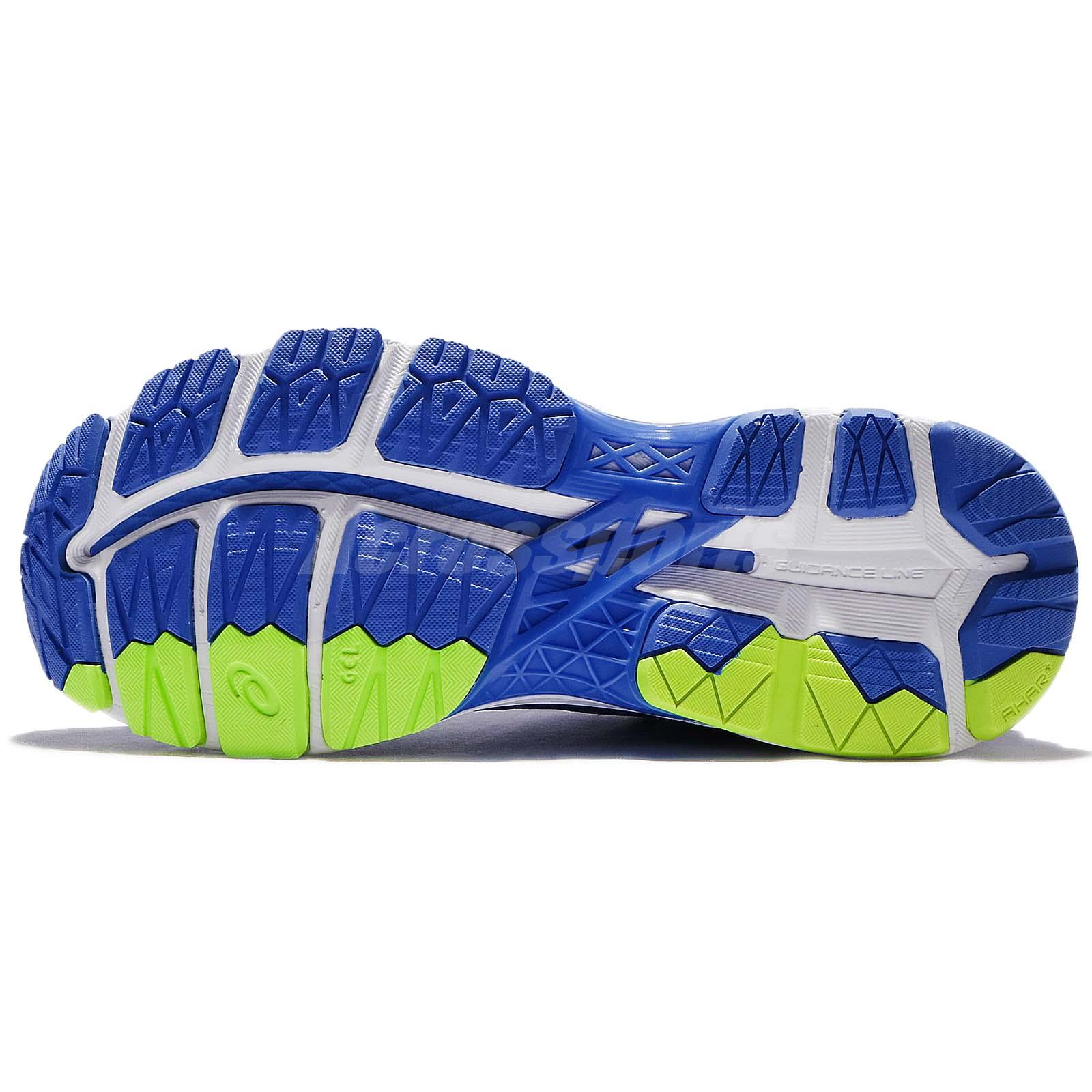 66958fa6119ed Asics Gel-Kayano 24 D Wide Blue White Women Running Shoes Sneakers ...