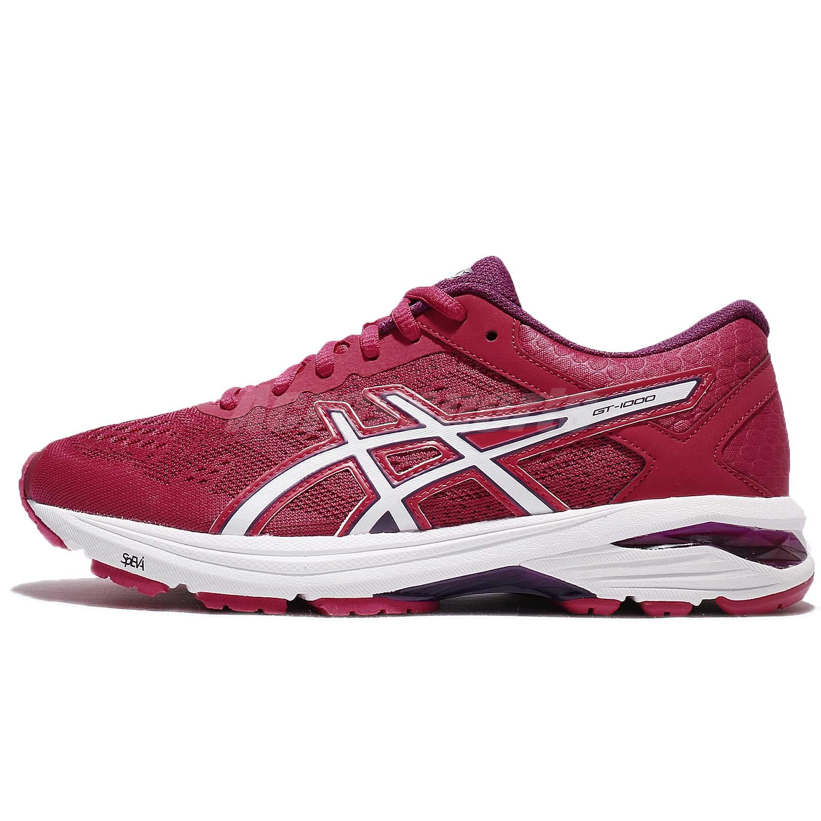 Asics GT 1000 6 Cosmo Pink White Women Running Shoes Sneakers T7A9N 2001