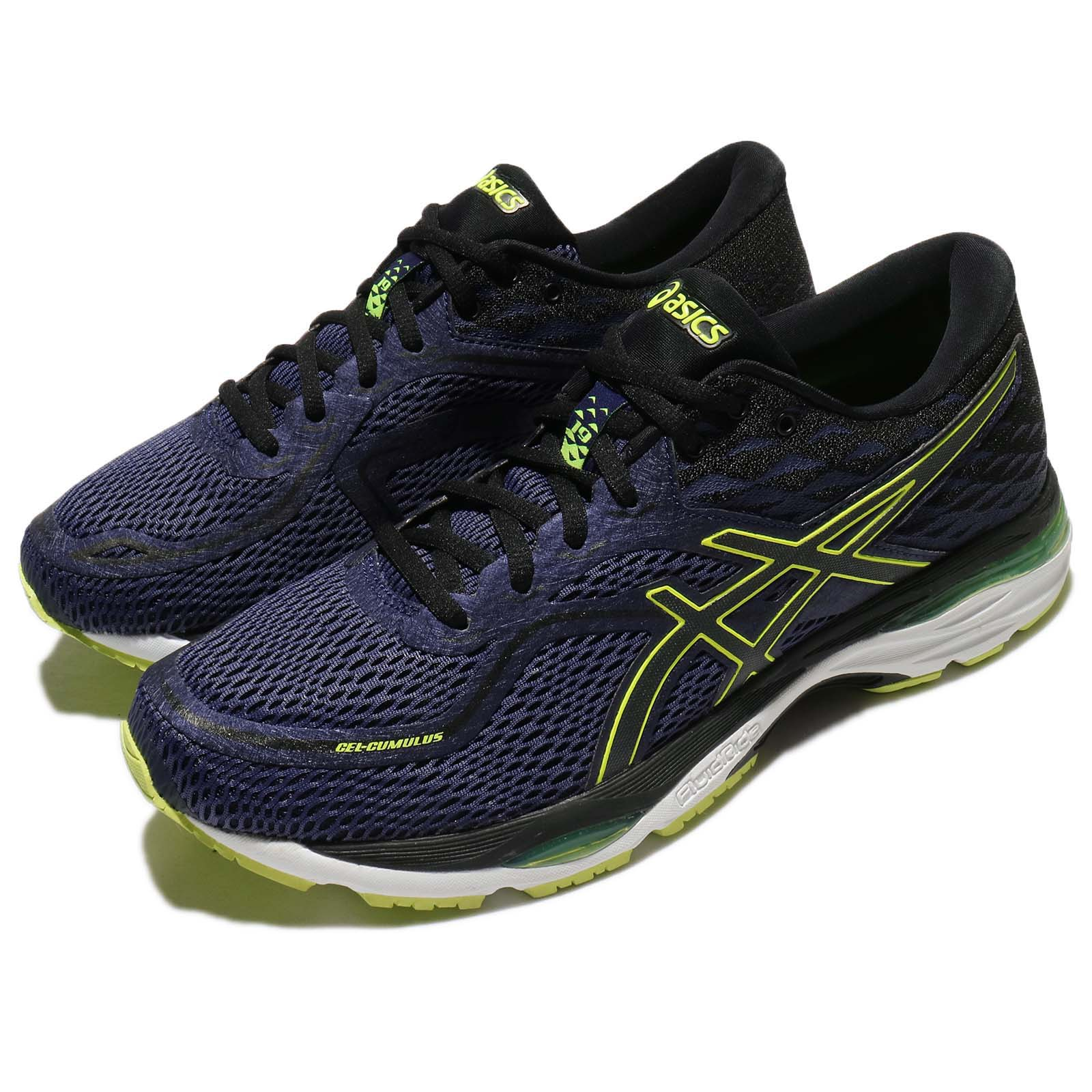 9bbab6f74 Details about Asics Gel-Cumulus 19 Blue Safety Yellow Men Running Shoes  Trainers T7B3N-4990