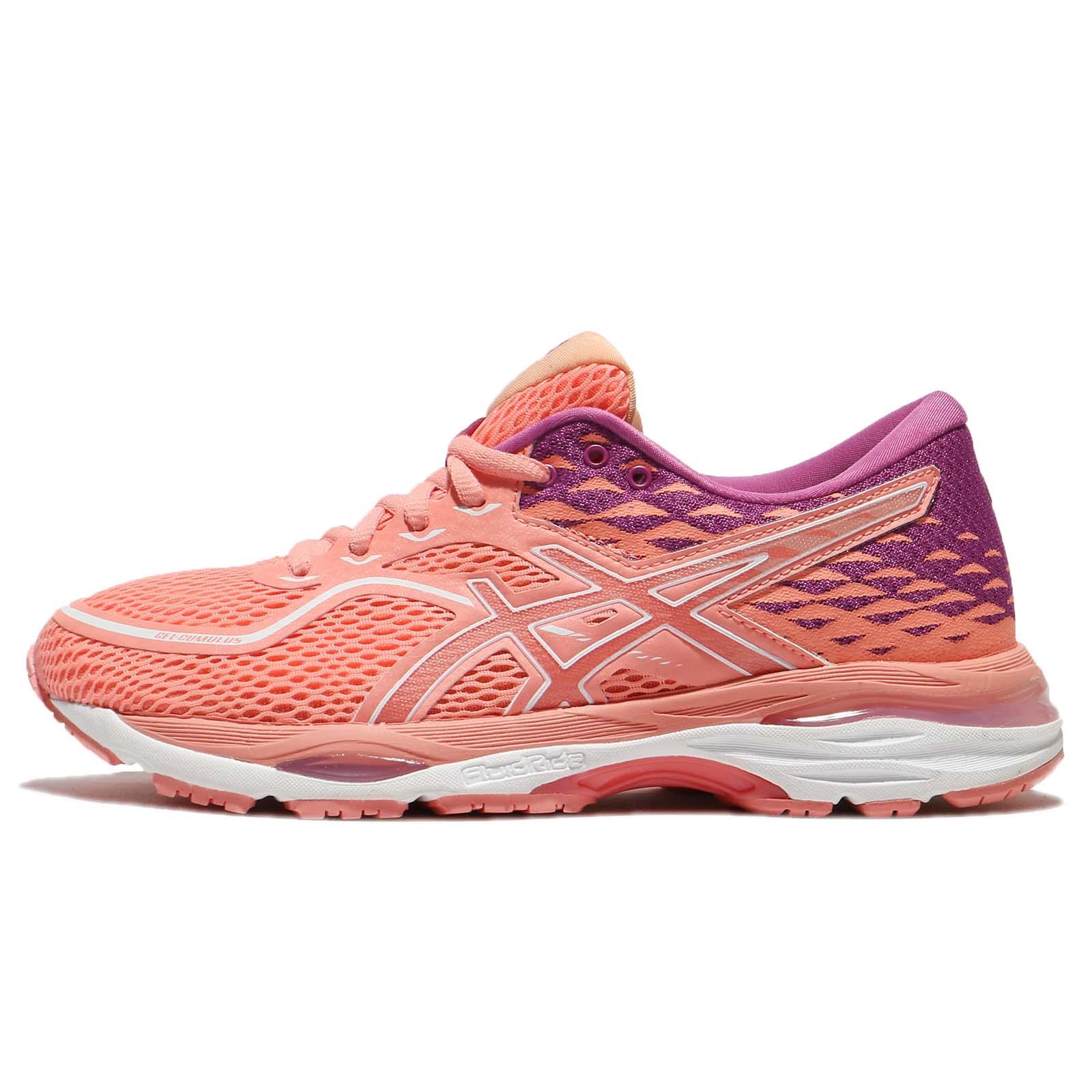 Asics Gel Cumulus 19 Begonia Pink White Women Running Shoes Sneakers T7B8N 0606