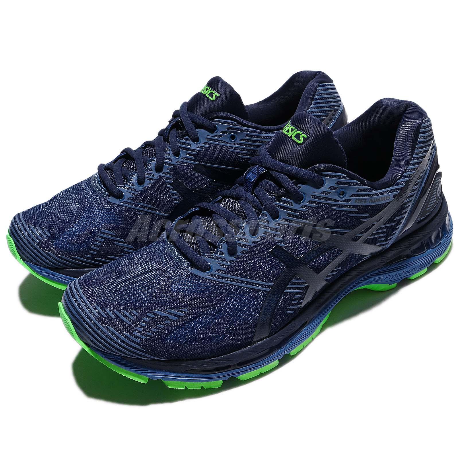 249275b8777f Details about Asics Gel-Nimbus 19 Lite-Show Xeon Indigo Blue Green Men  Running Shoe T7C3N-4943