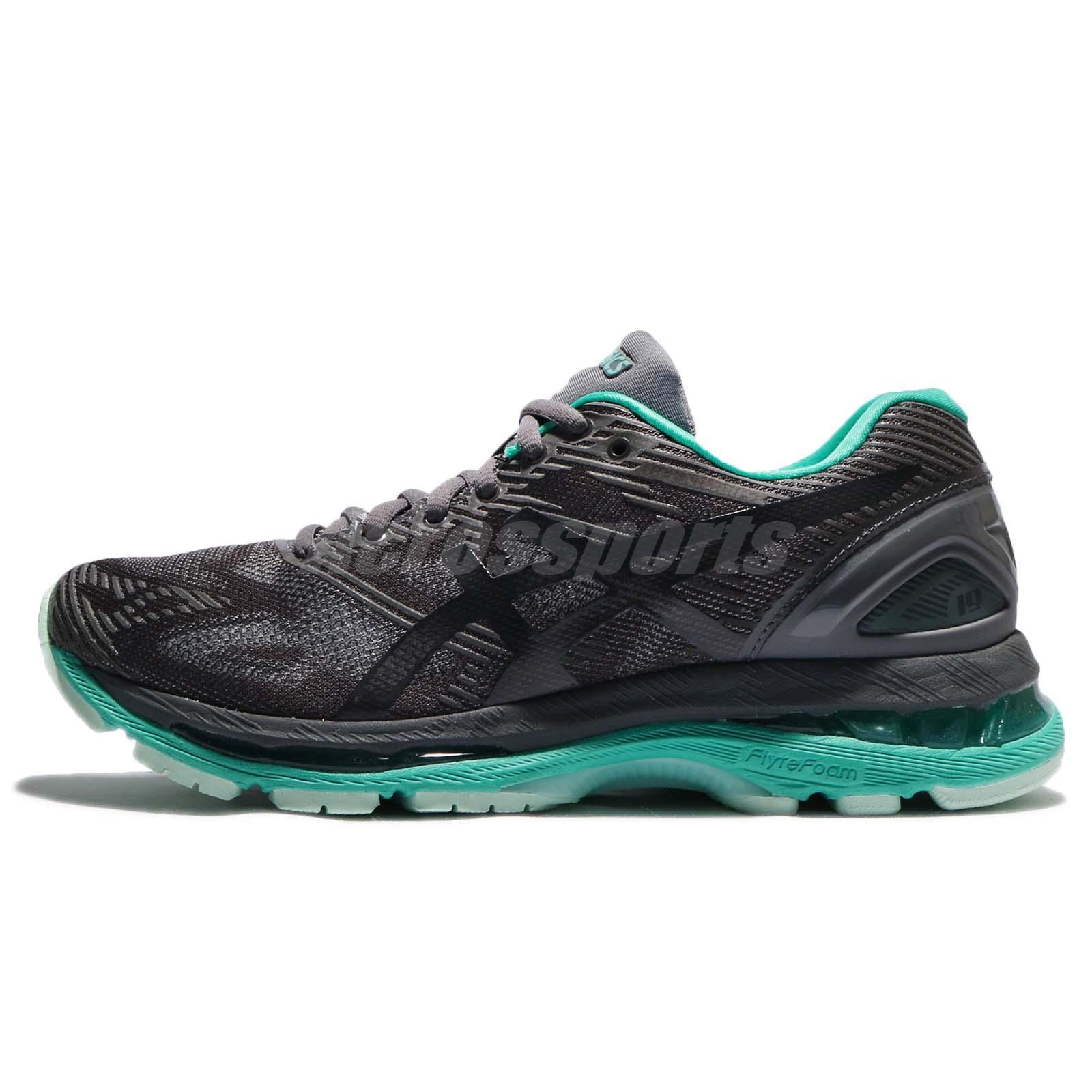 quality design e6d5f af434 Details about Asics Gel-Nimbus 19 Lite-Show Dark Grey Green Women Running  Shoes T7C8N-9590