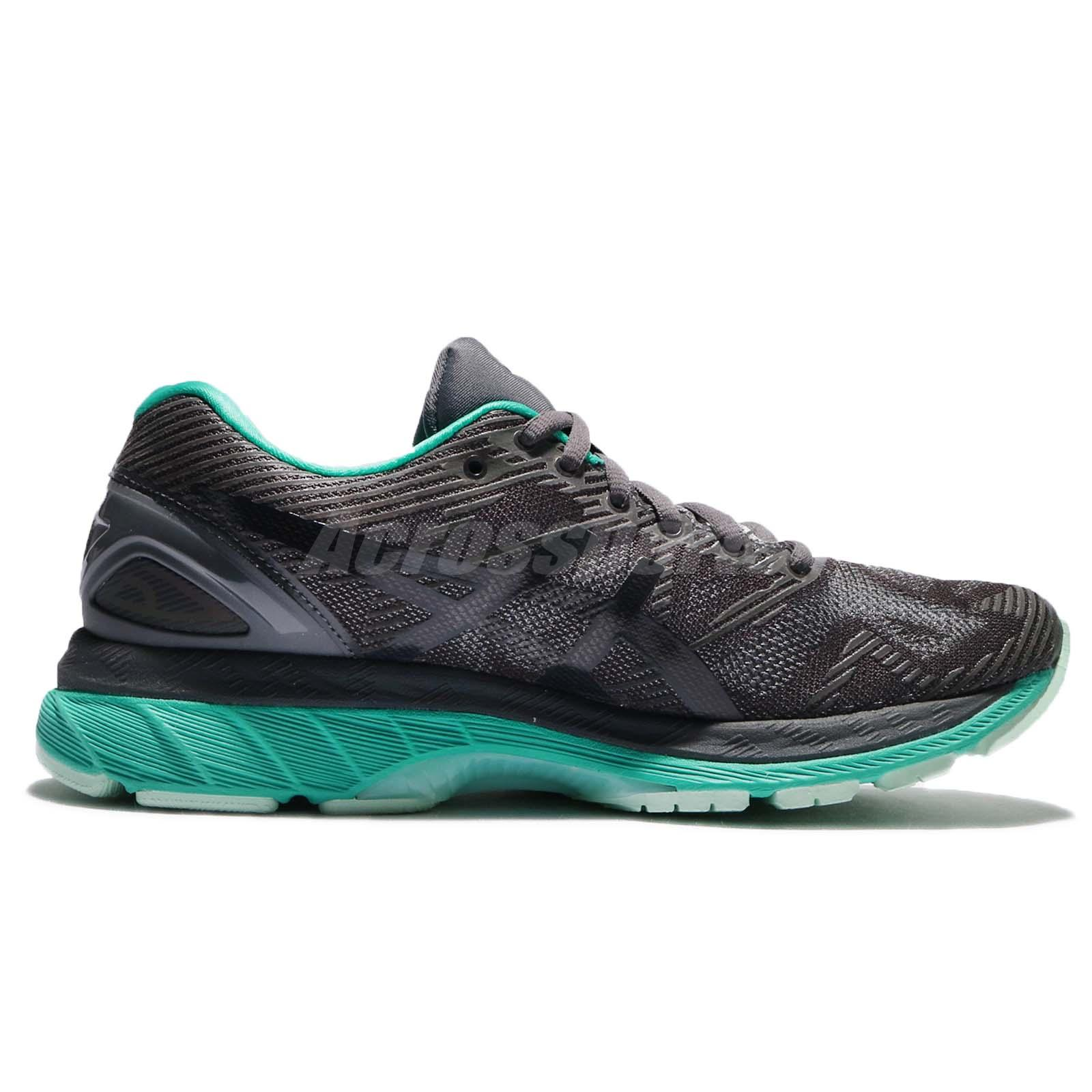 Asics Gel Nimbus 19 Lite Show Dark Grey Green Women Running Shoes T7C8N 9590