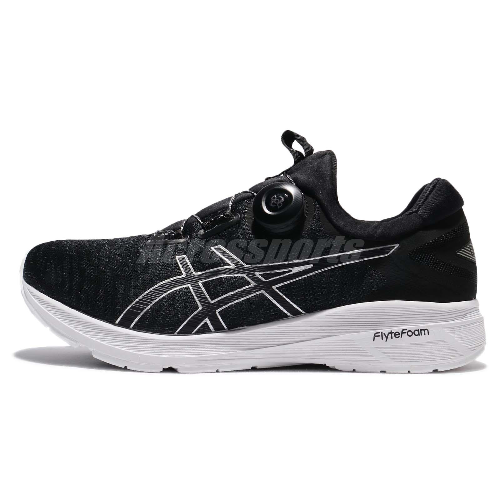 abfde4ce2a9827 Asics Dynamis Flytefoam Boa Carbon Black Men Running Shoes Sneakers  T7D1N-9790