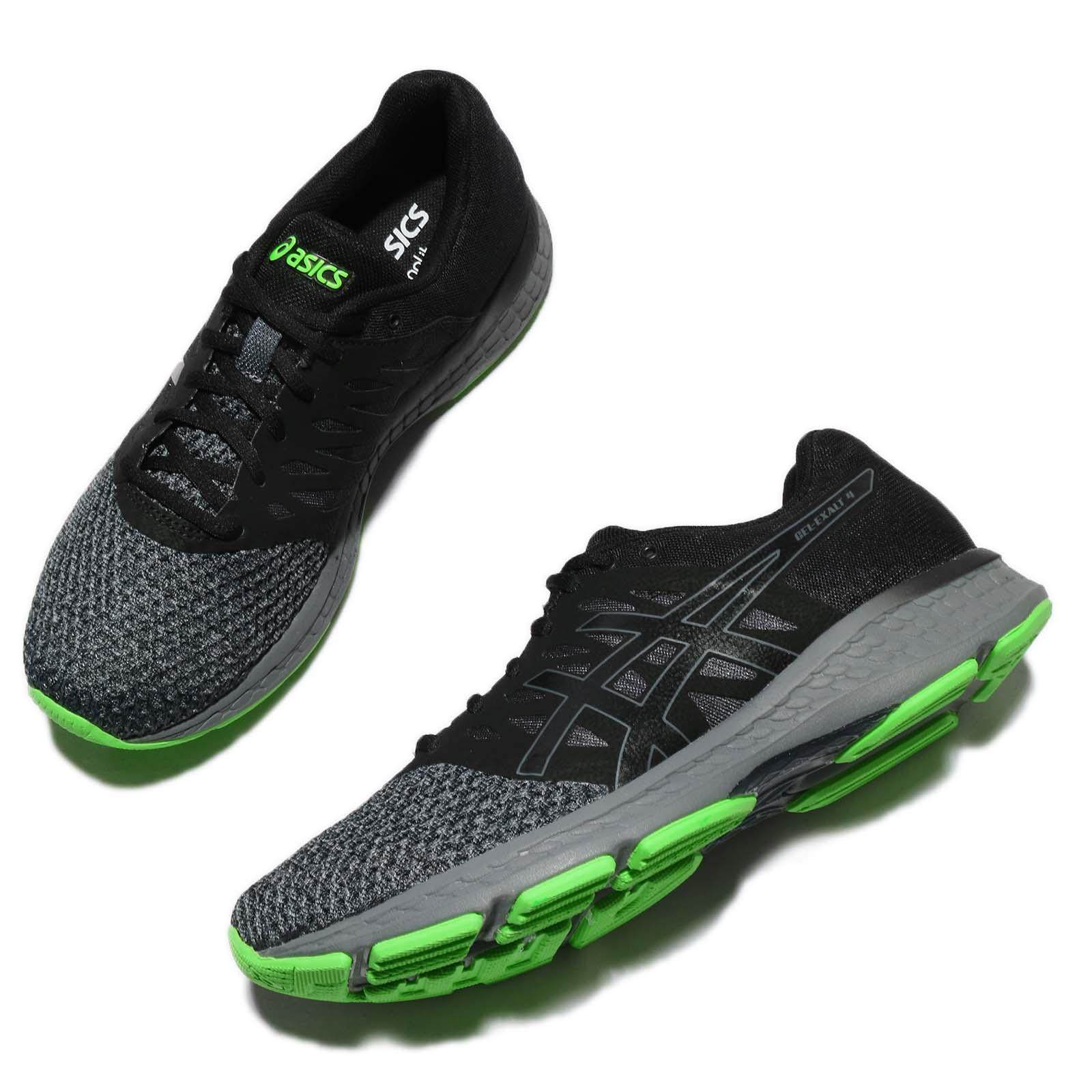 Asics Gel-Exalt 4 IV Black Carbon Green Men Running Shoes Trainers ... 0f9512df44