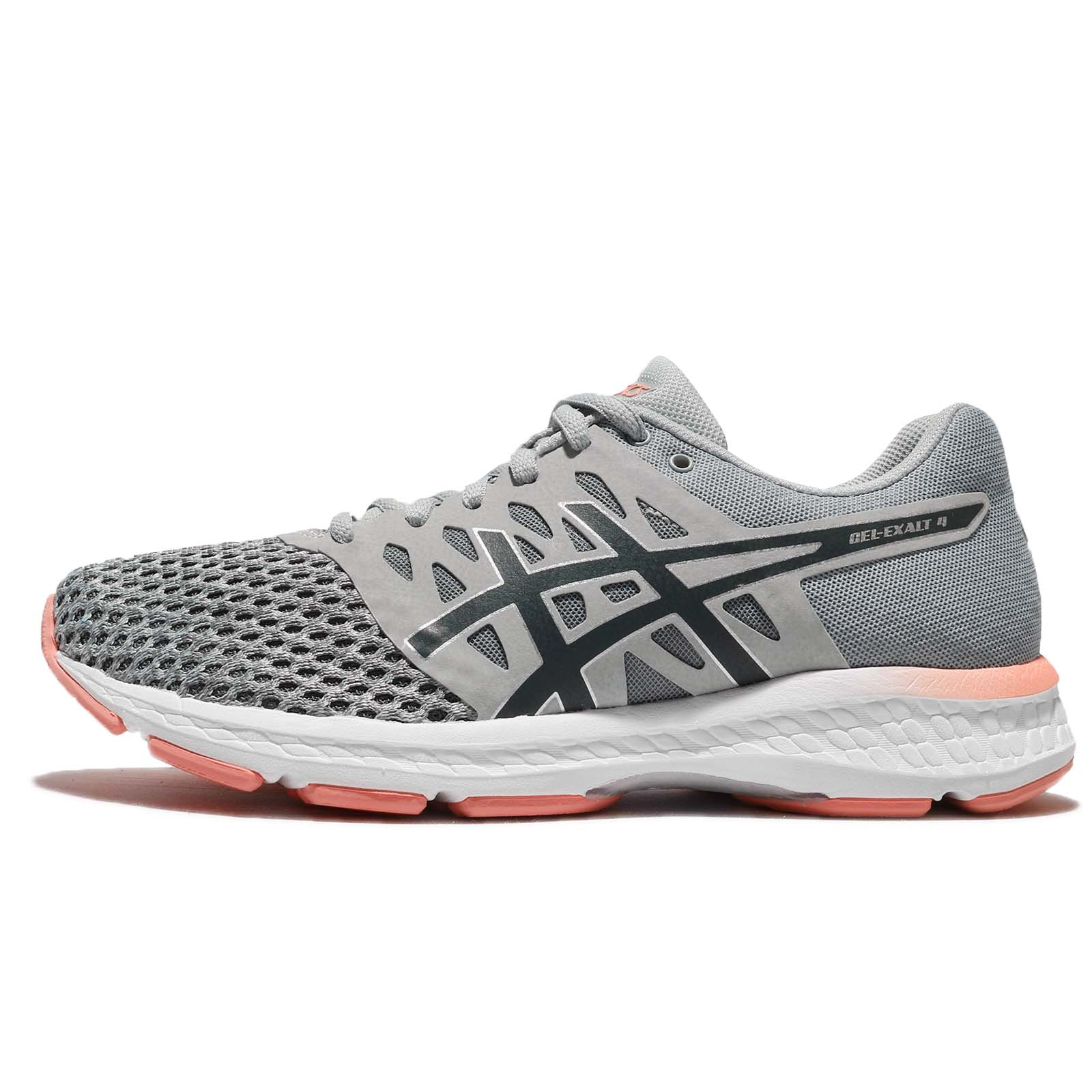 Asics Gel Exalt 4 Grey Carbon Pink Women Road Running Athletic Shoes T7E5N 9697