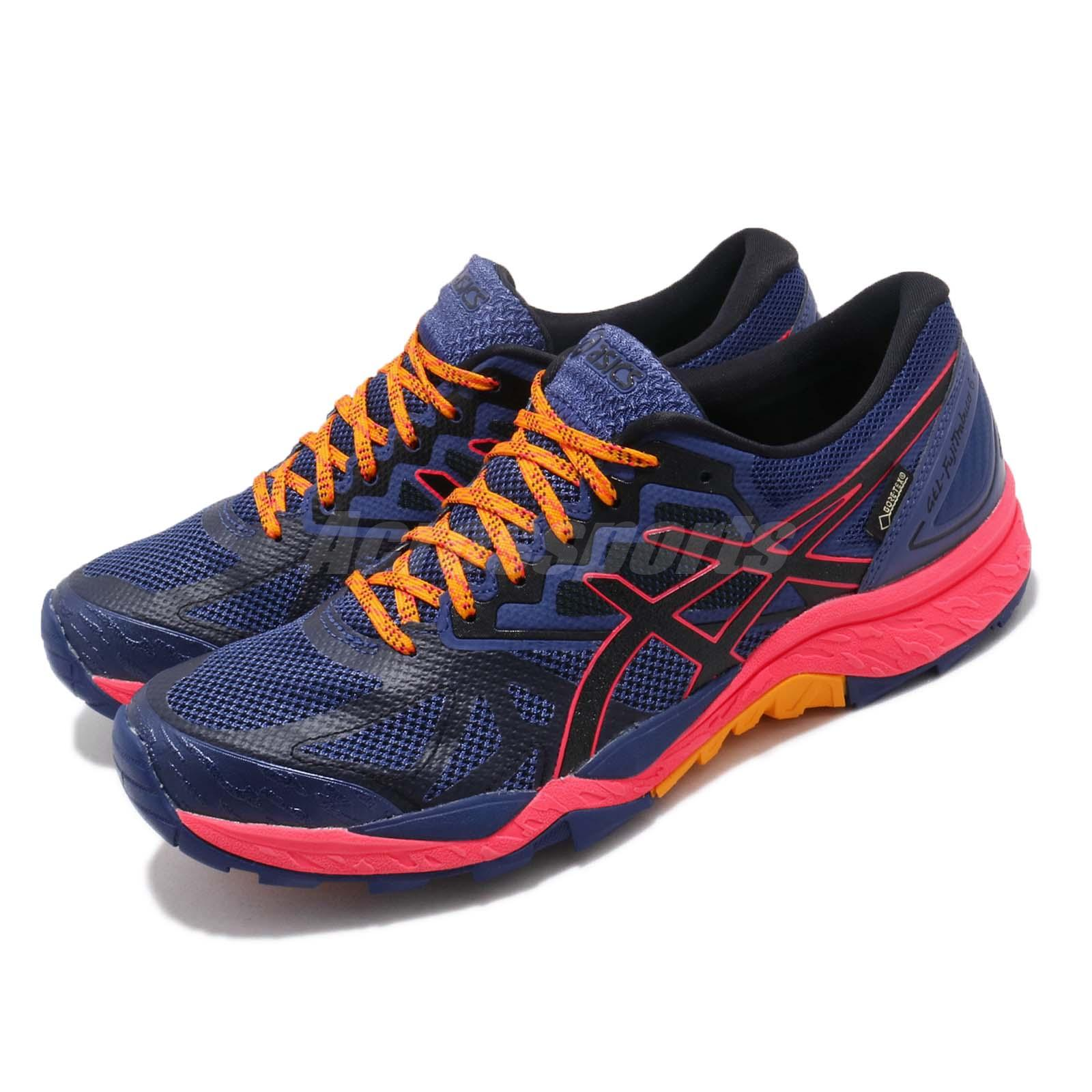 0105c980b05ce Details about Asics Gel-FujiTrabuco 6 G-TX Gore-Tex Blue Black Women  Running Shoes T7F5N-400