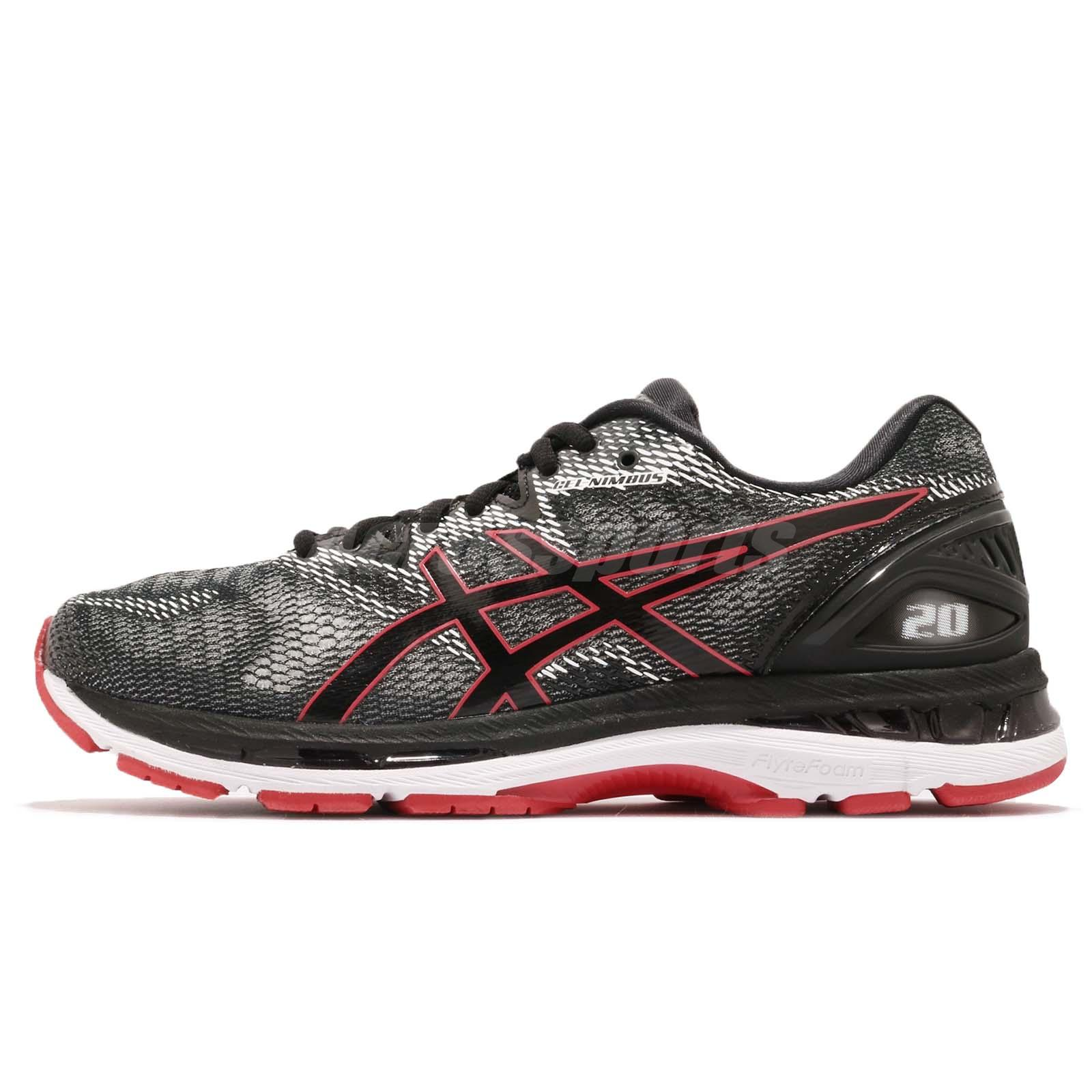 Running 20 Gel Black White Red Nimbus Shoes Asics Men Training pP0qwCZ4