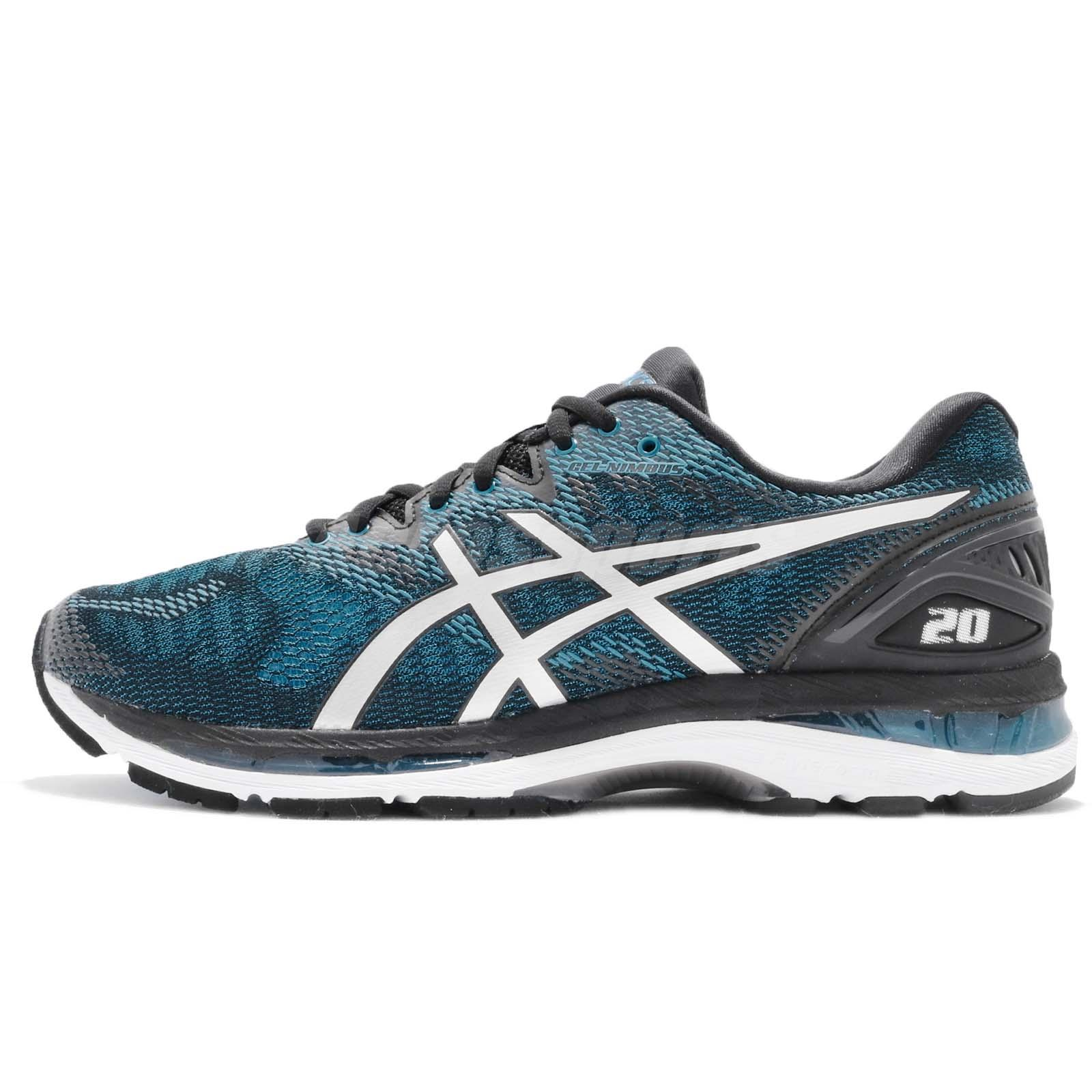 26df8d2939 Asics Gel-Nimbus 20 Island Blue White Black Men Running Training Shoe T800N- 4101