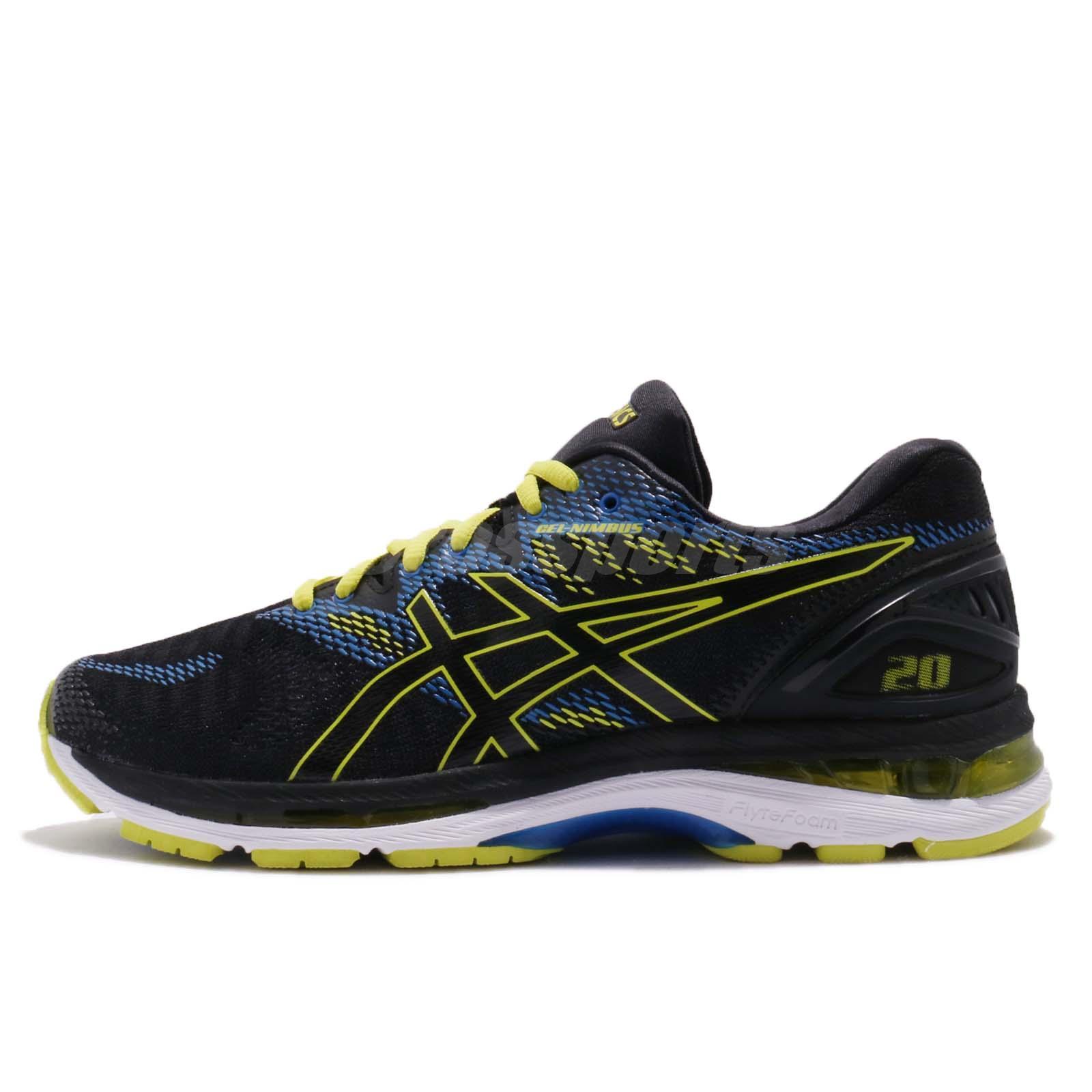 Asics Gel-Nimbus 20 Black Yellow Men Road Running Shoes Sneakers T800N-9089 28a379fbb1876