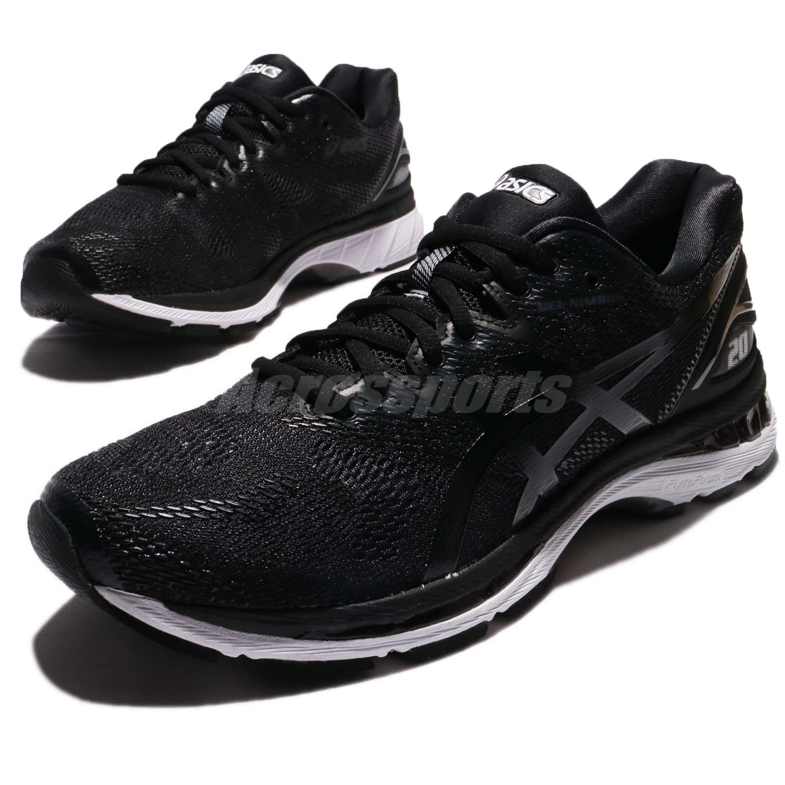 28c66d9eee7 Details about Asics Gel-Nimbus 20 4E Extra Wide Black White Men Running  Shoes T802N-9001