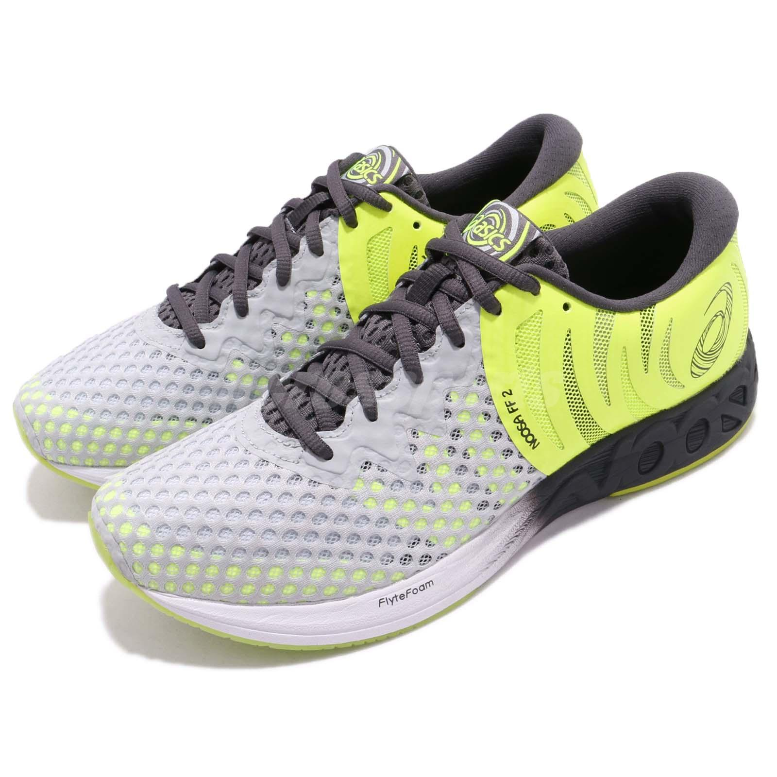 4e09669a18 Details about Asics Noosa FF 2 II Grey Yellow White Men Gear Fast Running  Shoes T819N-9695