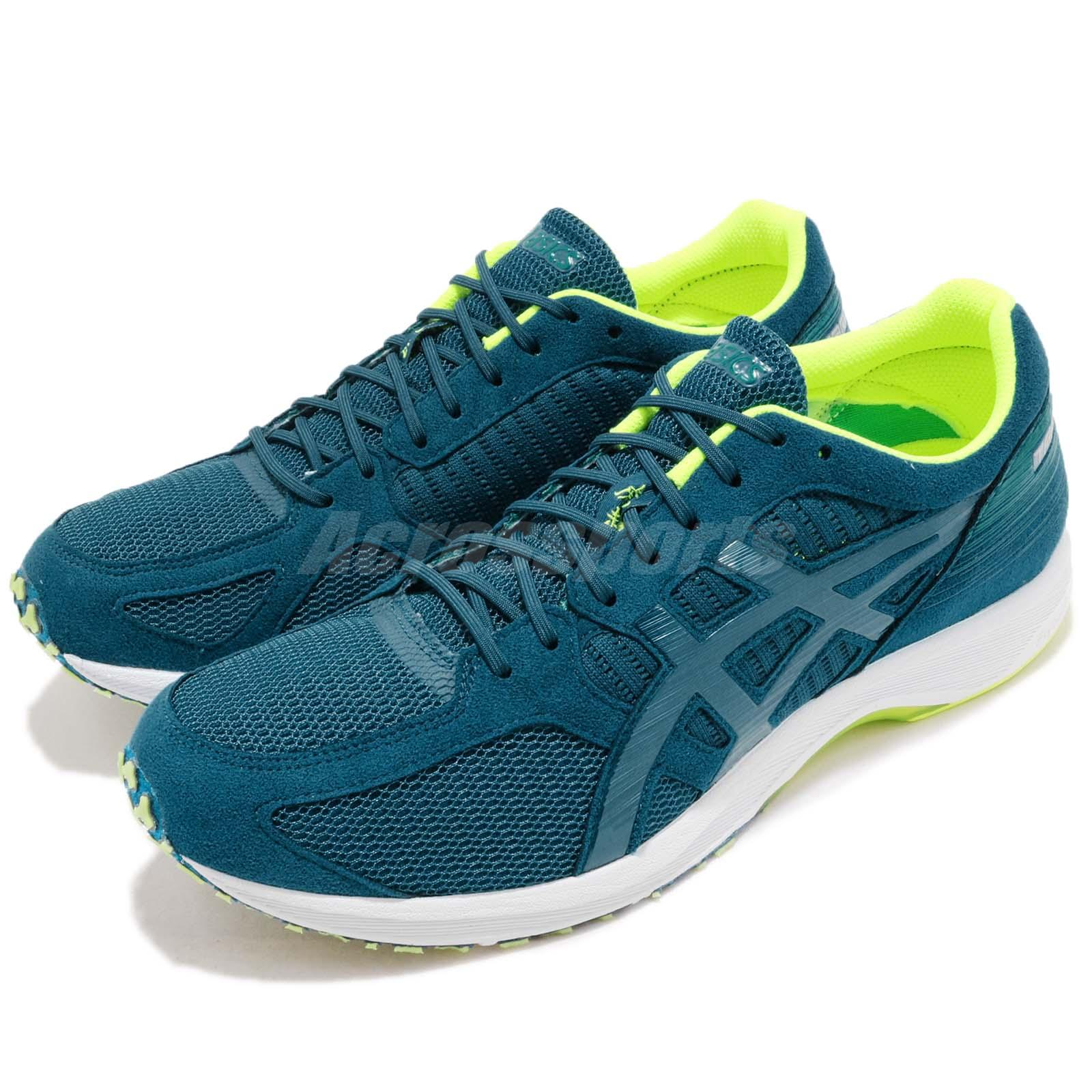 Details about Asics Tartherzeal 6 Deep Aqua Volt White Men Running Shoes Sneakers T820N 401