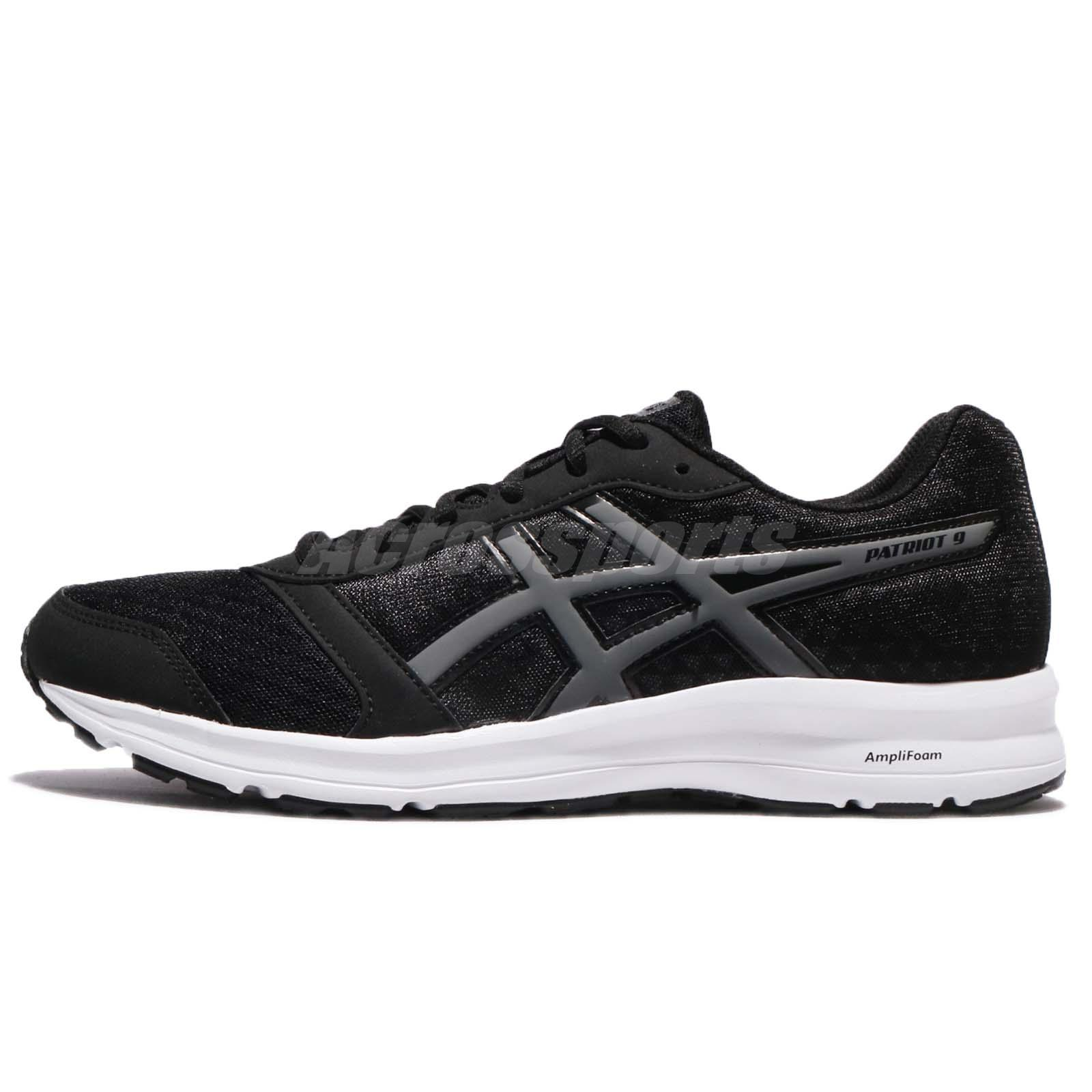 Asics Patriot 9 Black Carbon White Men Running Shoes Sneaker Trainers T823N 9097