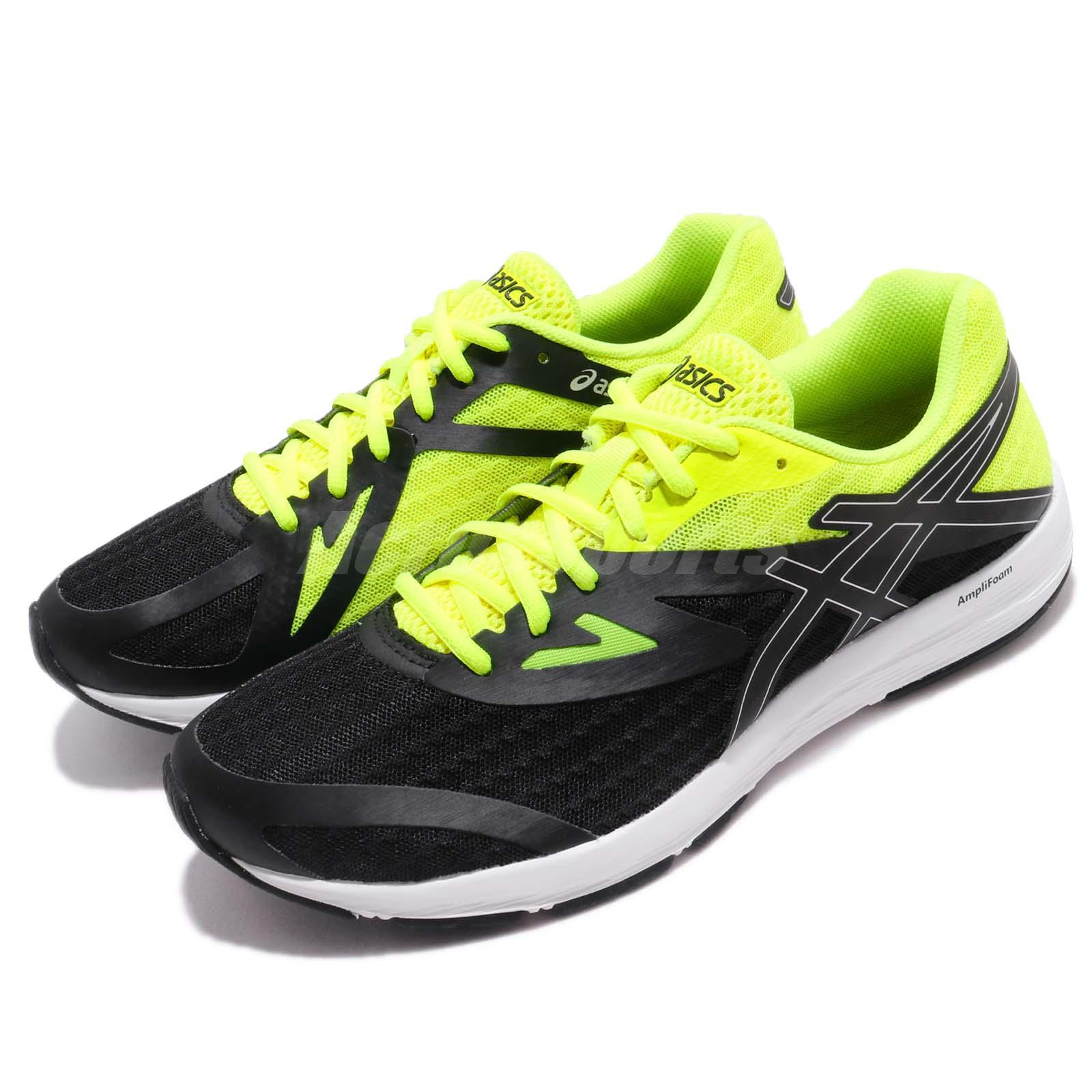 Details about Asics Amplica AmpliFoam Black Yellow Men Running Shoes Sneakers T825N-9093