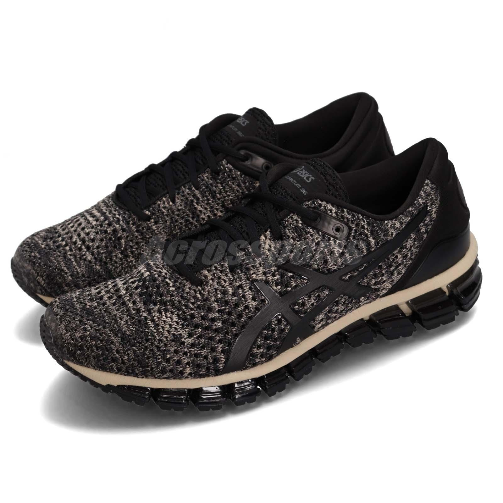 4110b9eff5 Details about Asics Gel-Quantum 360 Knit 2 Feather Grey Black Men Running  Shoes T840N-024