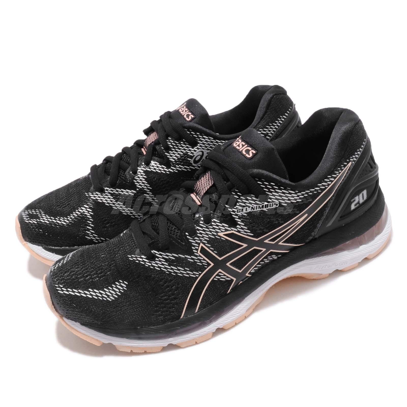 8be5e94be9793 Details about Asics Gel-Nimbus 20 FlyteFoam Black Frosted Rose Womens  Running Shoes T850N-001
