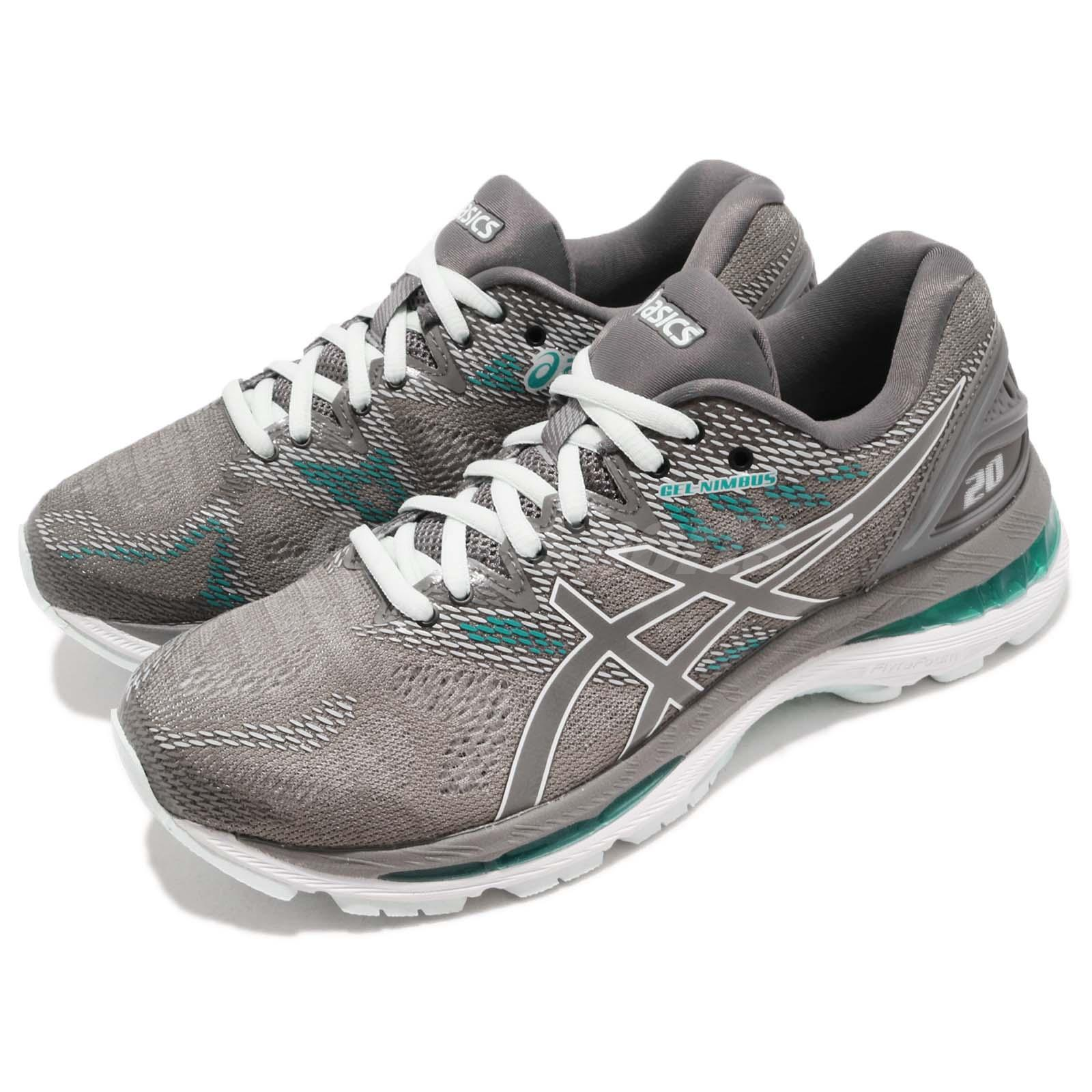 premium selection d2e10 6af66 Details about Asics Gel-Nimbus 20 Carbon Grey Green Women Running Shoes  Sneakers T850N-020