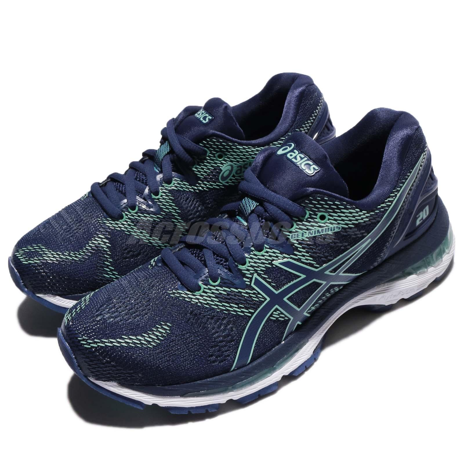 d2ebae31 Details about Asics Gel-Nimbus 20 Indigo Blue White Women Road Running Shoe  Sneaker T850N-4949