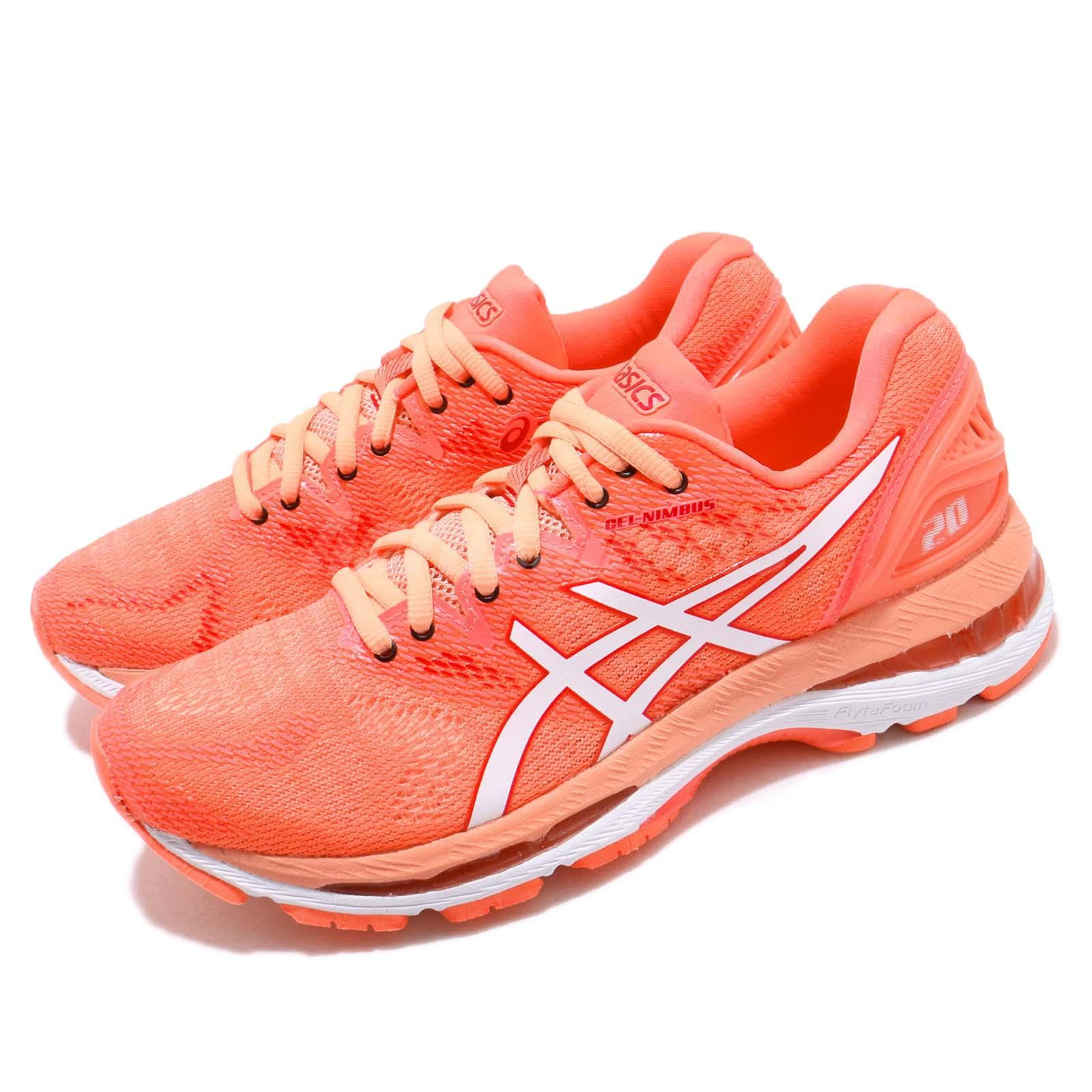 c80aa1652e7 Details about Asics Gel-Nimbus 20 Flash Coral White Women Running Shoes  Sneakers T850N-700