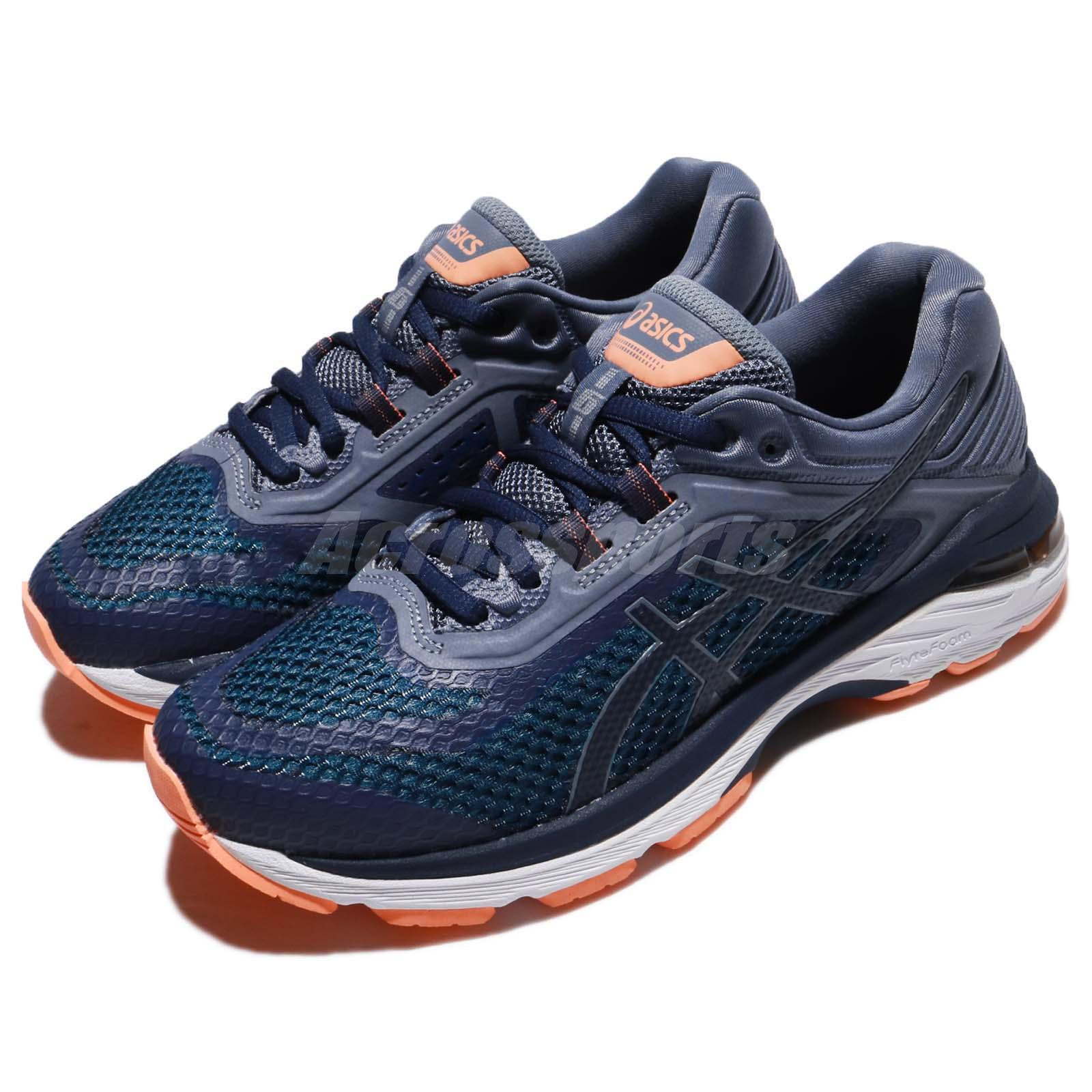 ce1b8d52630e Details about Asics GT-2000 6 D Wide Indigo Blue White Women Running Shoes  Sneakers T856N-4949