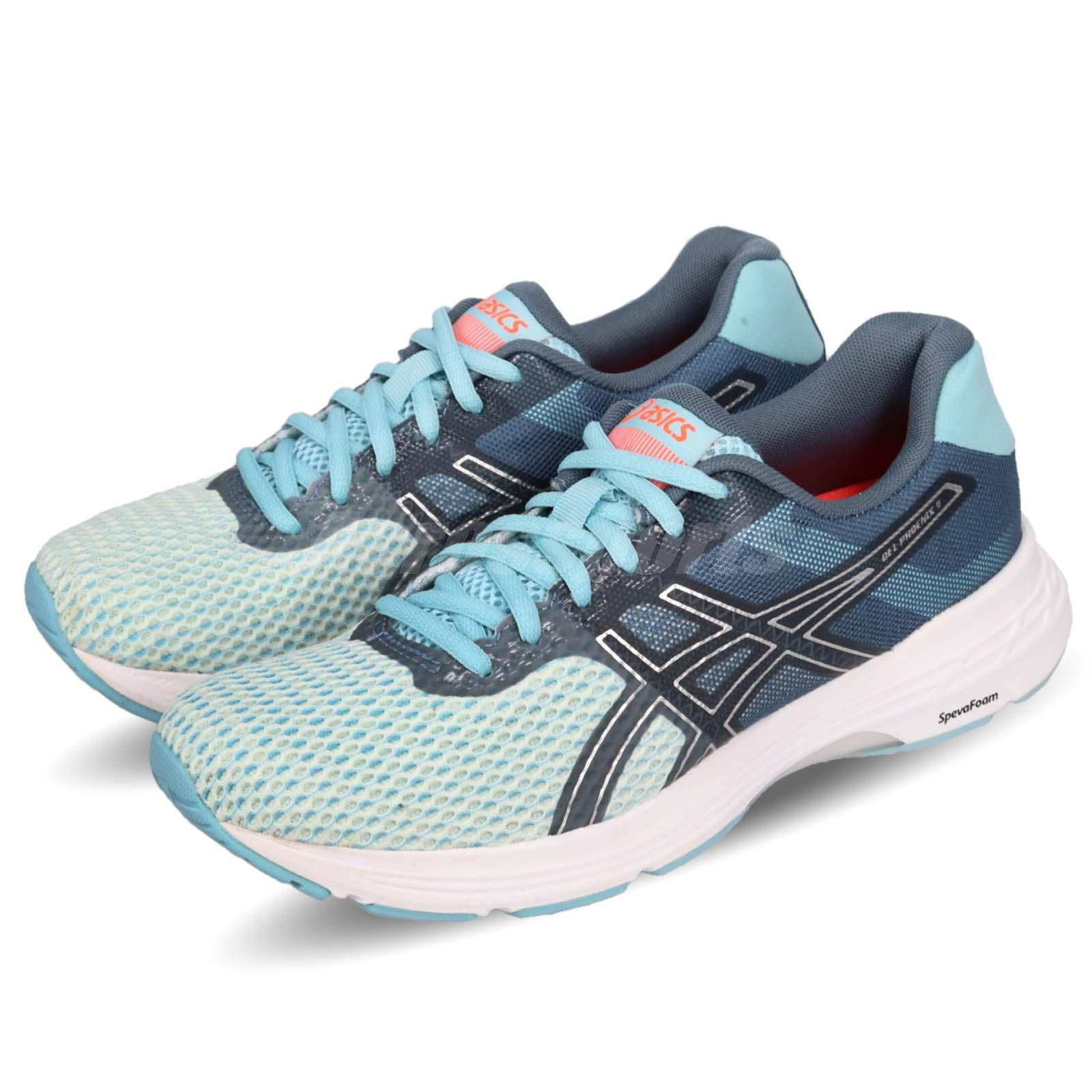Details About Asics Gel Phoenix 9 Blue Silver White Women Running Shoes Sneakers T872n 1493