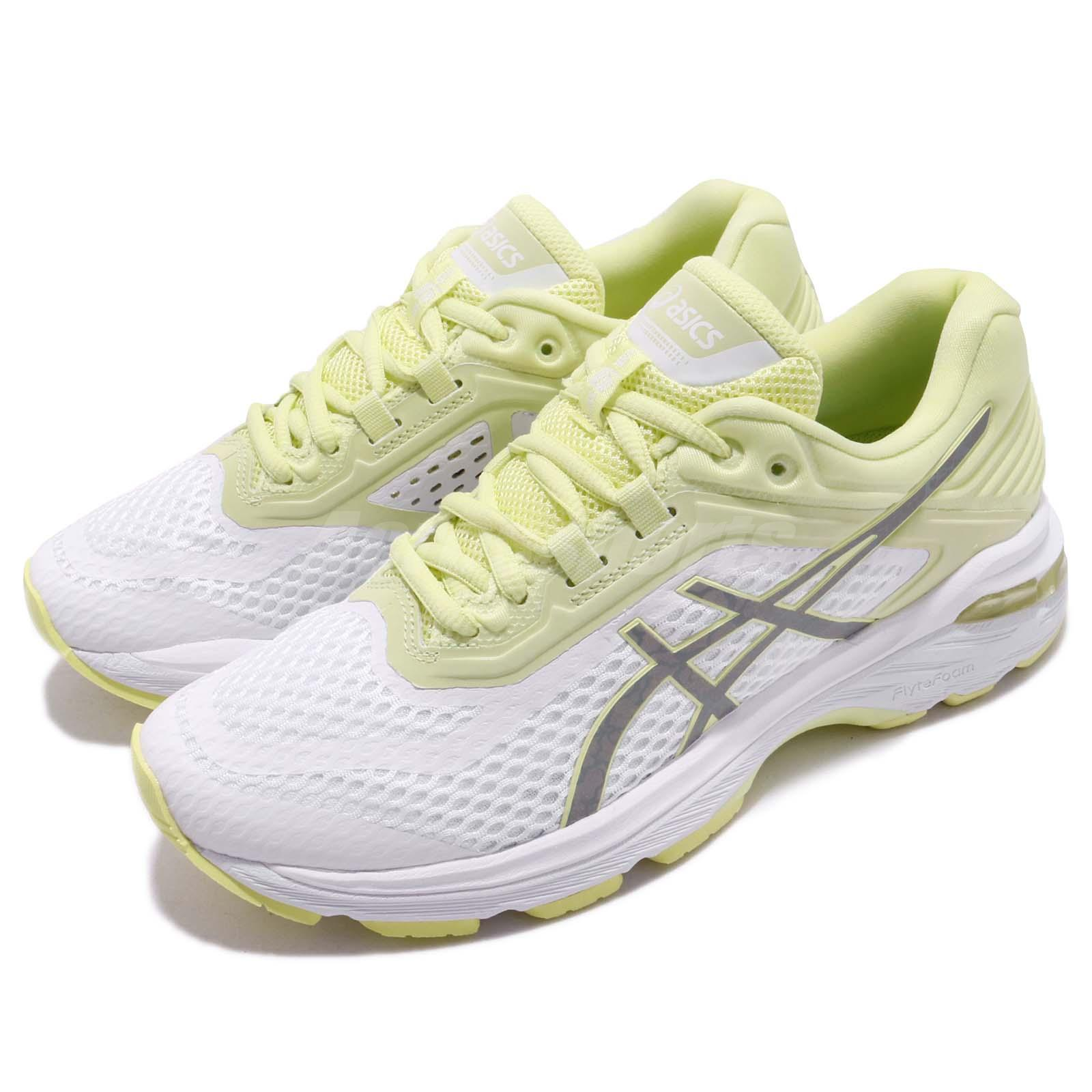 2dfa4cab19e7c Details about Asics GT-2000 6 Lite-Show White Silver Lime Light Women  Running Shoes T884N-0193