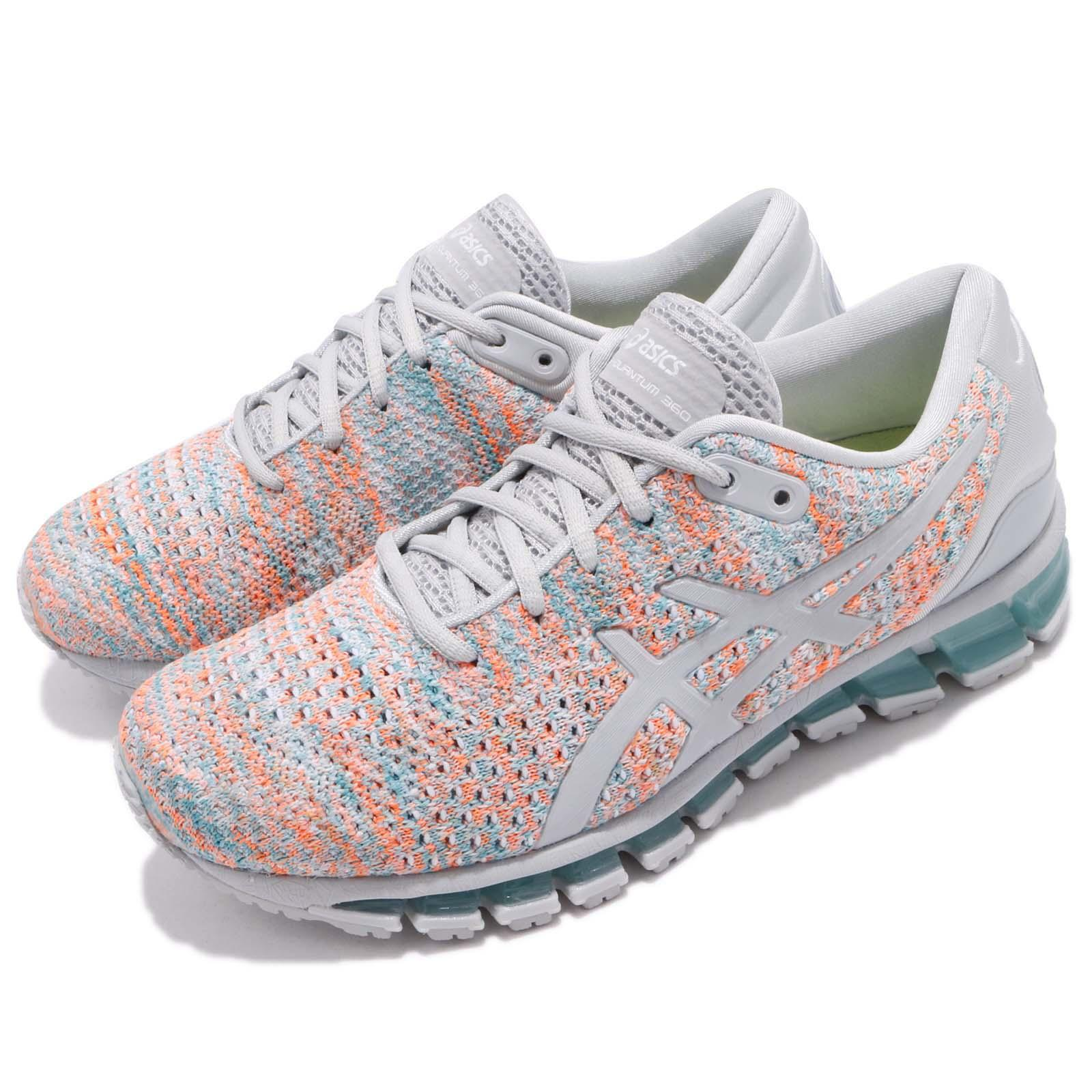 Details about Asics Gel-Quantum 360 Knit 2 II Grey Orange Blue Women  Running Shoes T890N-9609